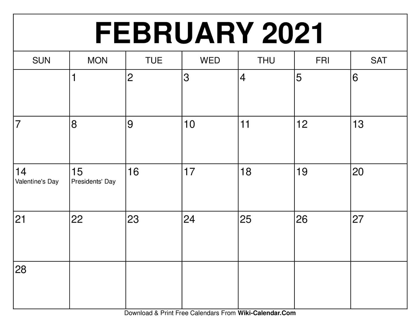 Free Printable February 2020 Calendars pertaining to Print Free 2020 Calendar Without Downloading Weekly Writing
