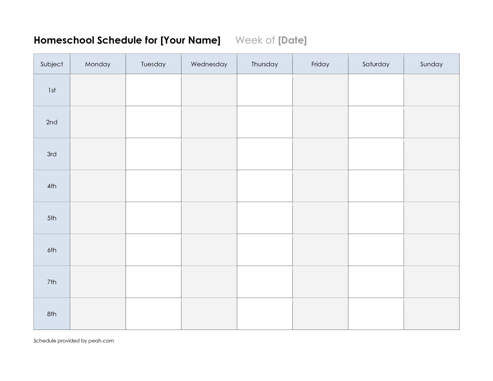 Free+Printable+Weekly+Schedule+Calendar | Weekly Calendar regarding Printable Nfl Schedule For 2020 2021