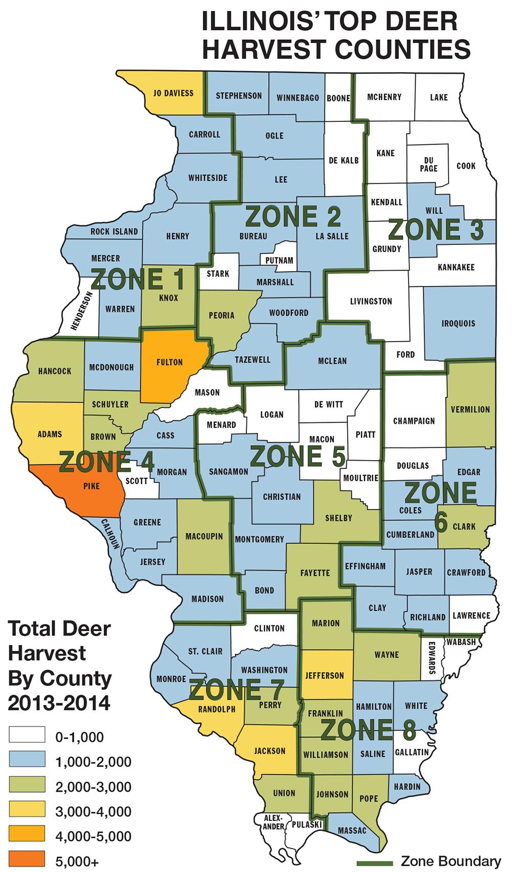 Illinois Deer Hunting Forecast For 2014 regarding Illinois Deer Rut Prediction For 2020