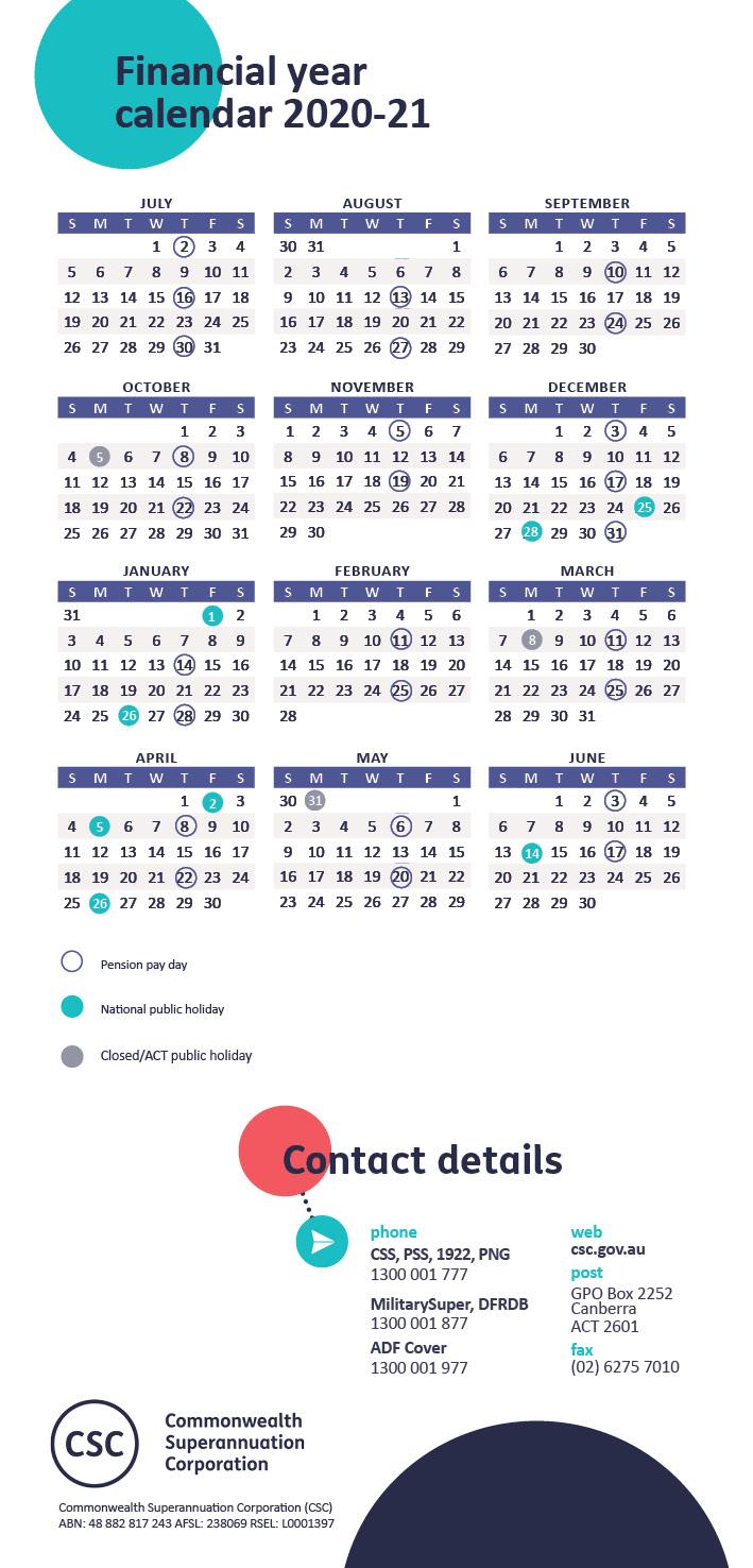 Payday | Pensioner | Retirement | Members - Csc regarding 2021 Payday Working Days Calendar