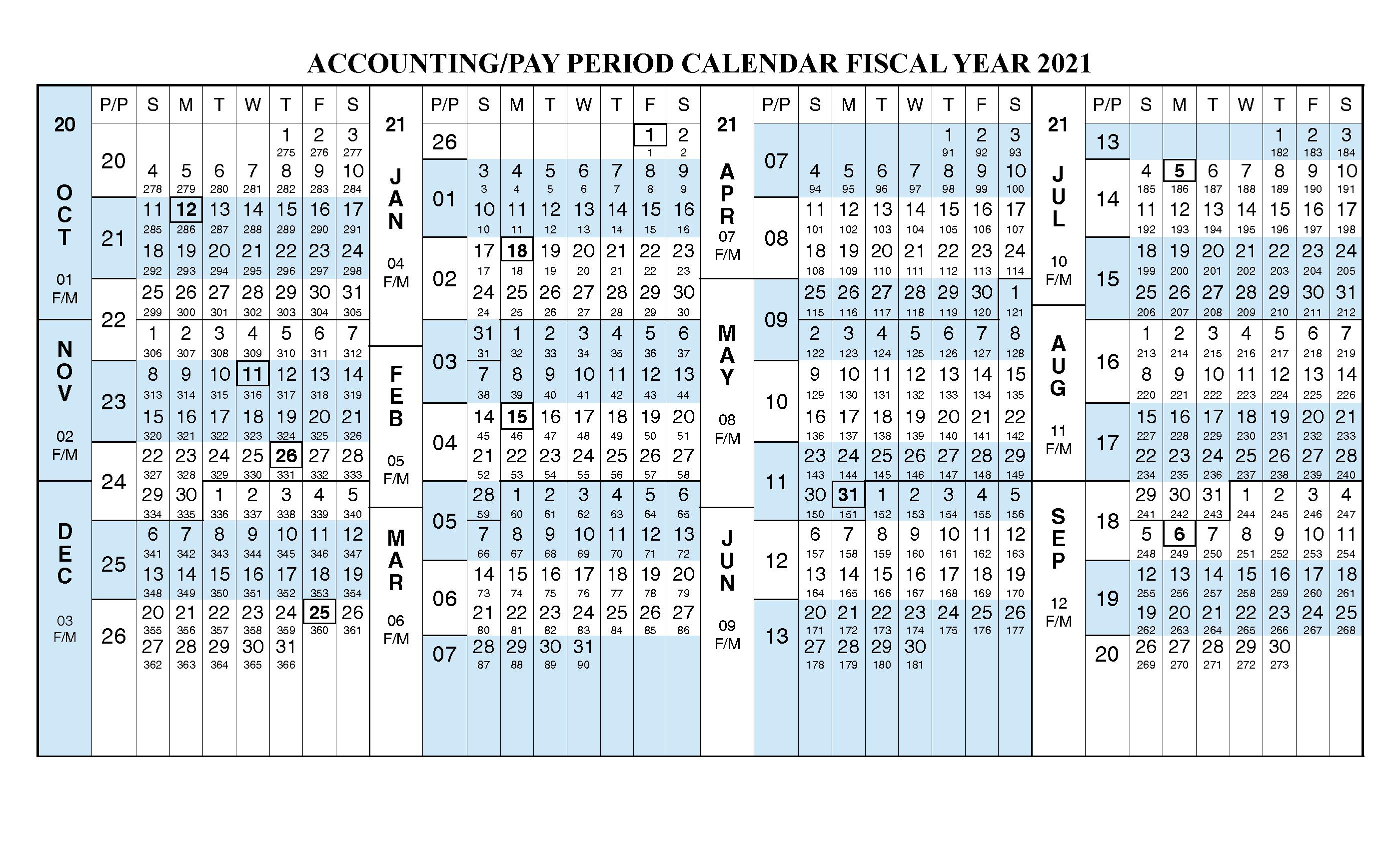 Payroll Calendar 2021 Fiscal Year Calendar [ Oct 2020 – Sep for Fiscal Calendar For October 2020