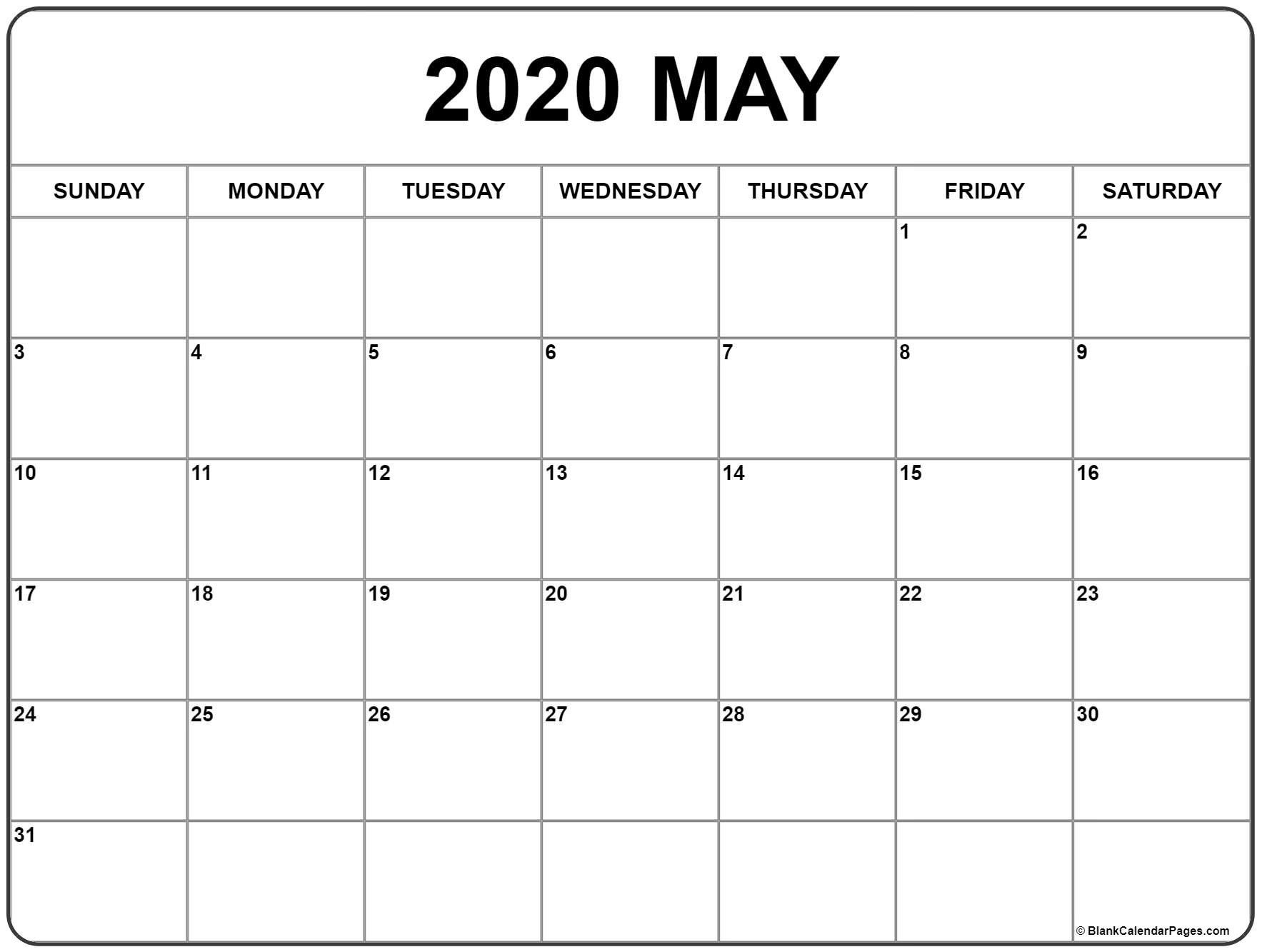 Pin On Origami for Free Blank Printable Monthly Calendar 2020