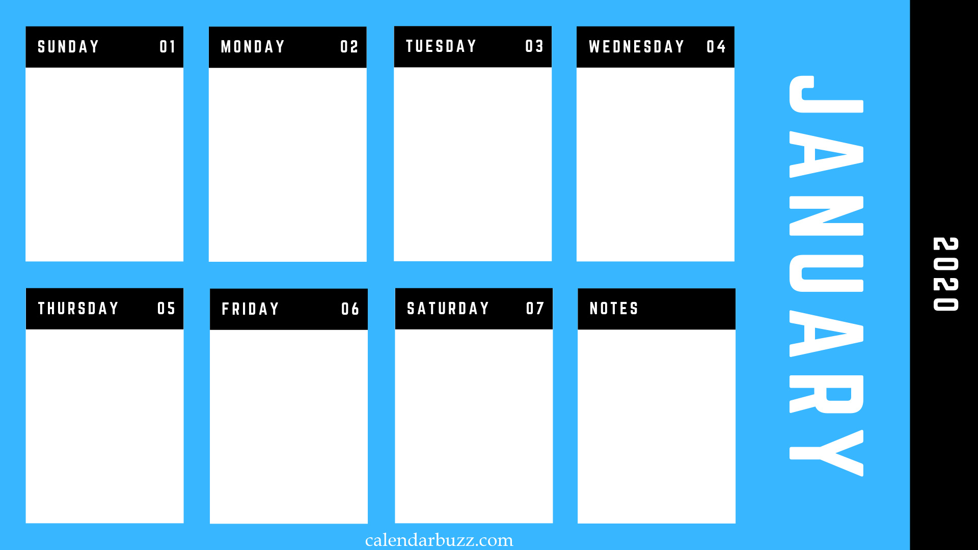 Printable 2020 Monthly, Weekly Planner Templates Download with 2020 Monthly Printable Pocket Planner