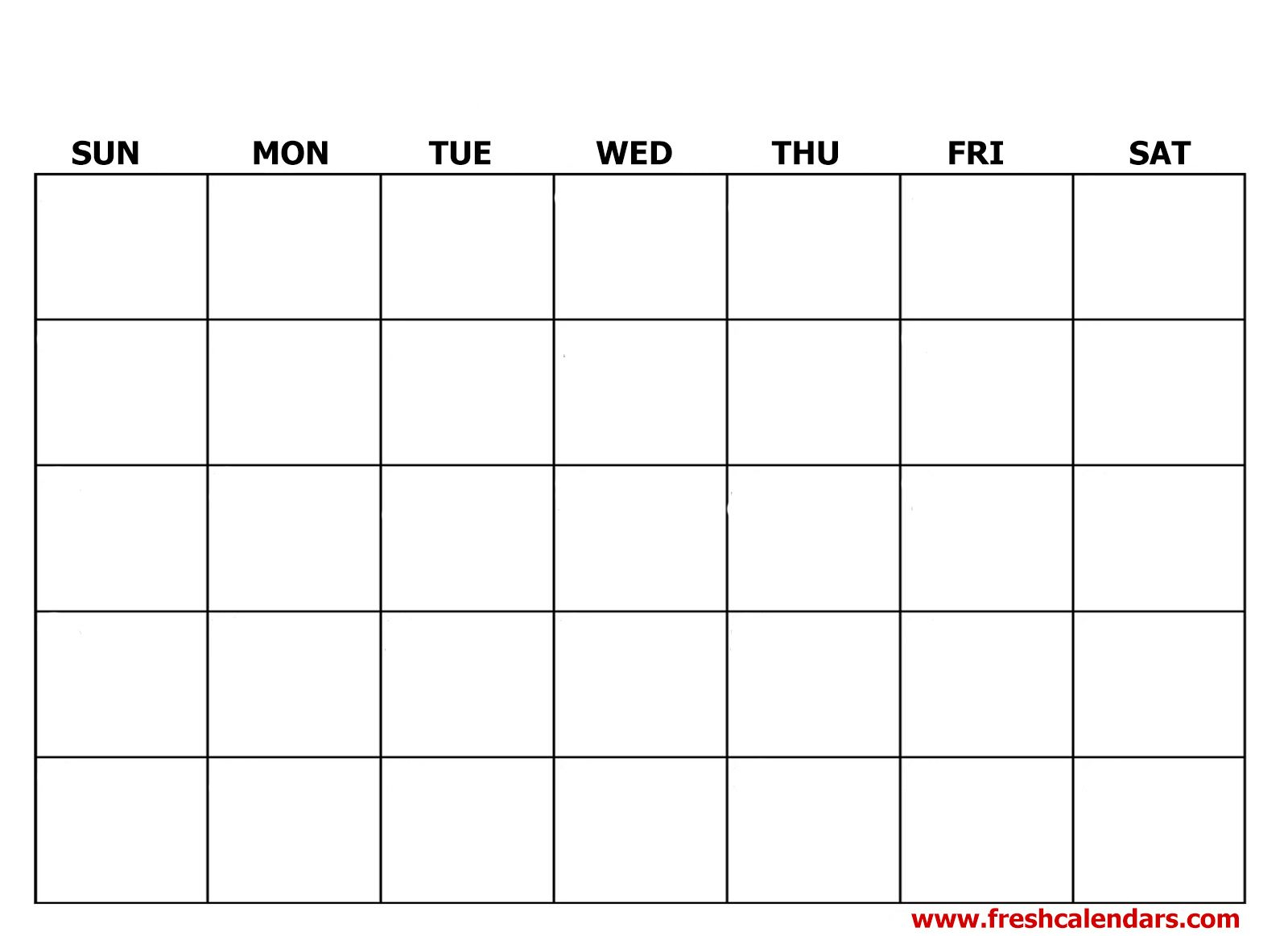 Printable Blank Calendar Templates within 2020 Calendar To Fill In