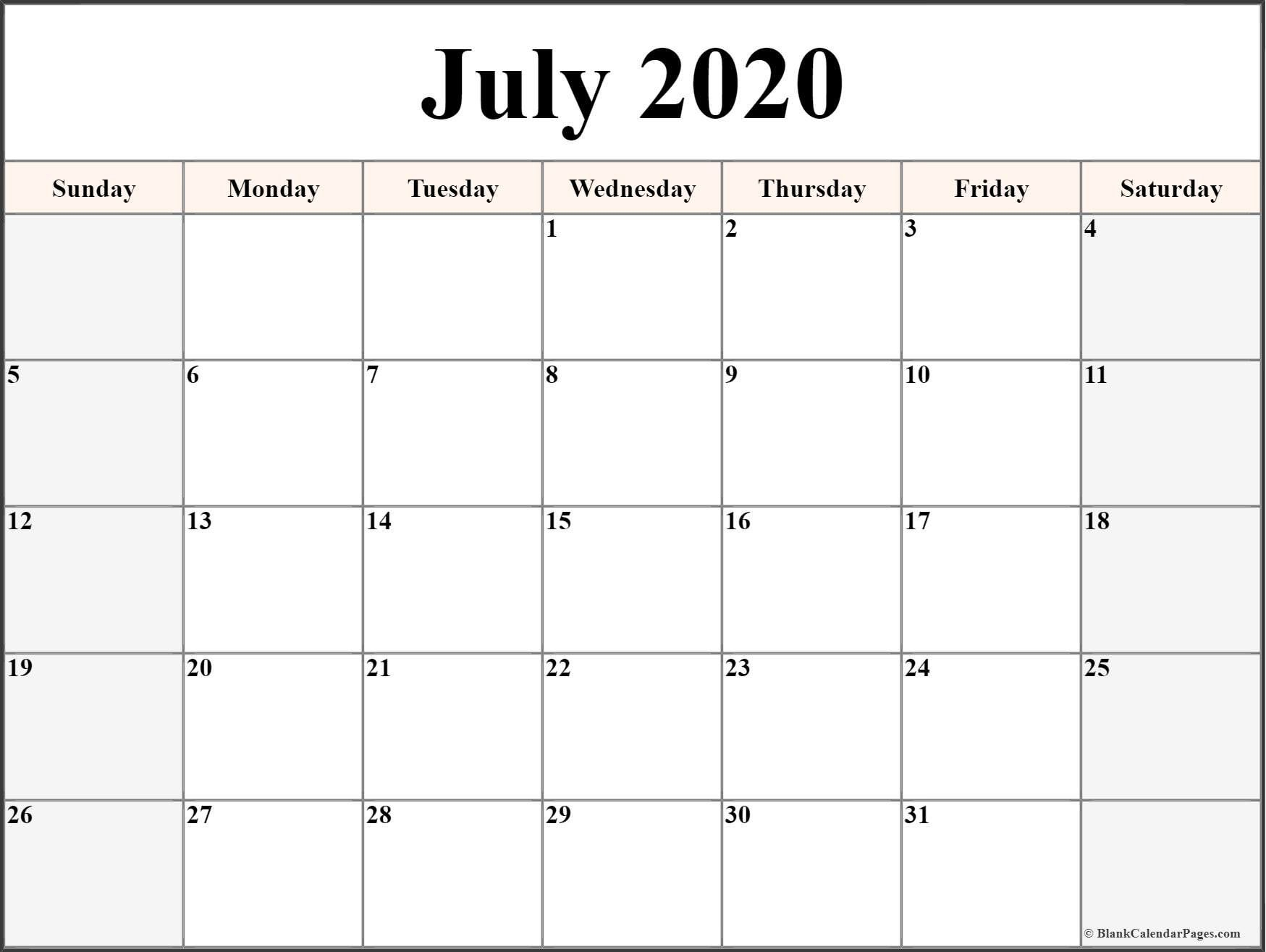 Printable Calendar Templates 2020 In 2020 | Printable regarding Fill In Calendar Printable 2020
