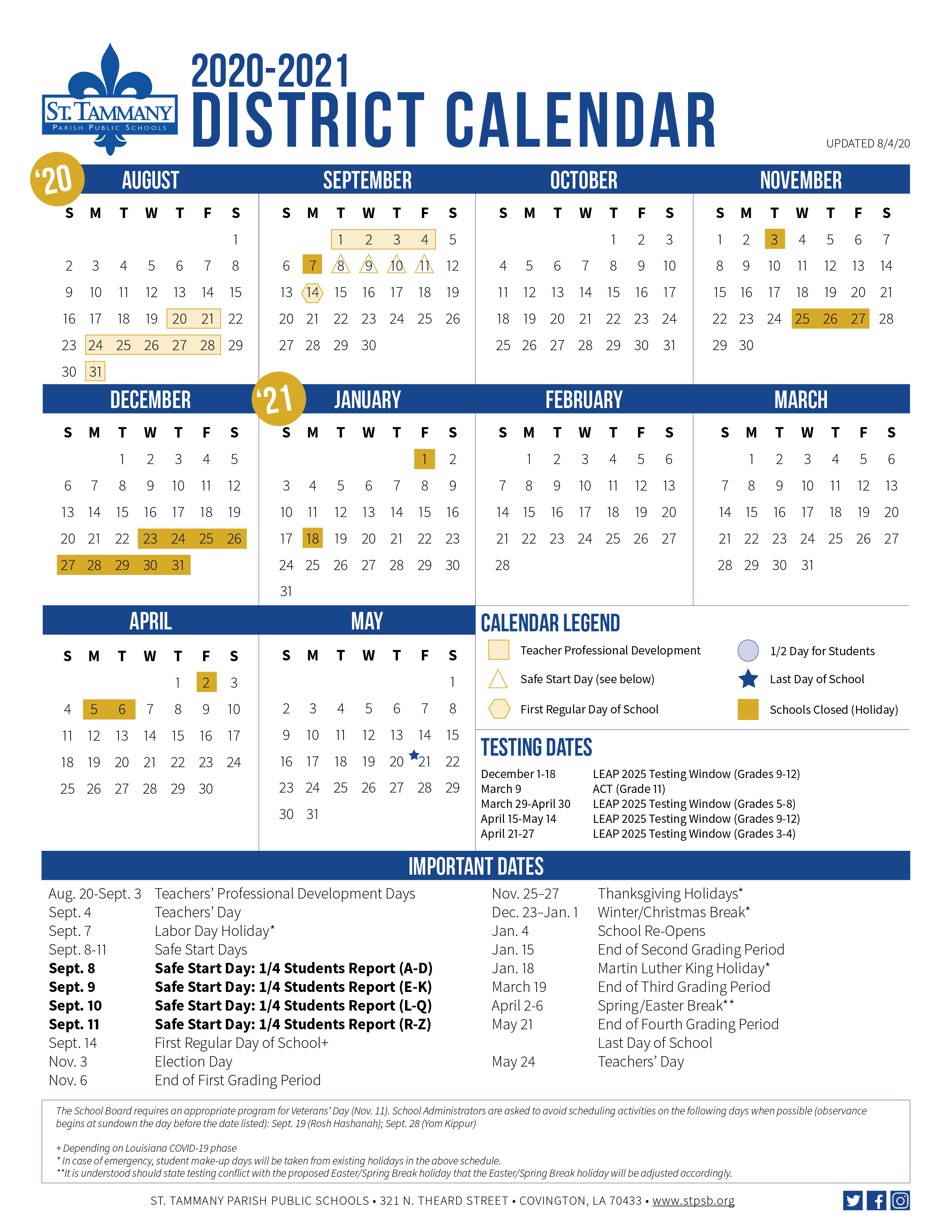Stpps: District Calendar throughout 2021 Payday Working Days Calendar