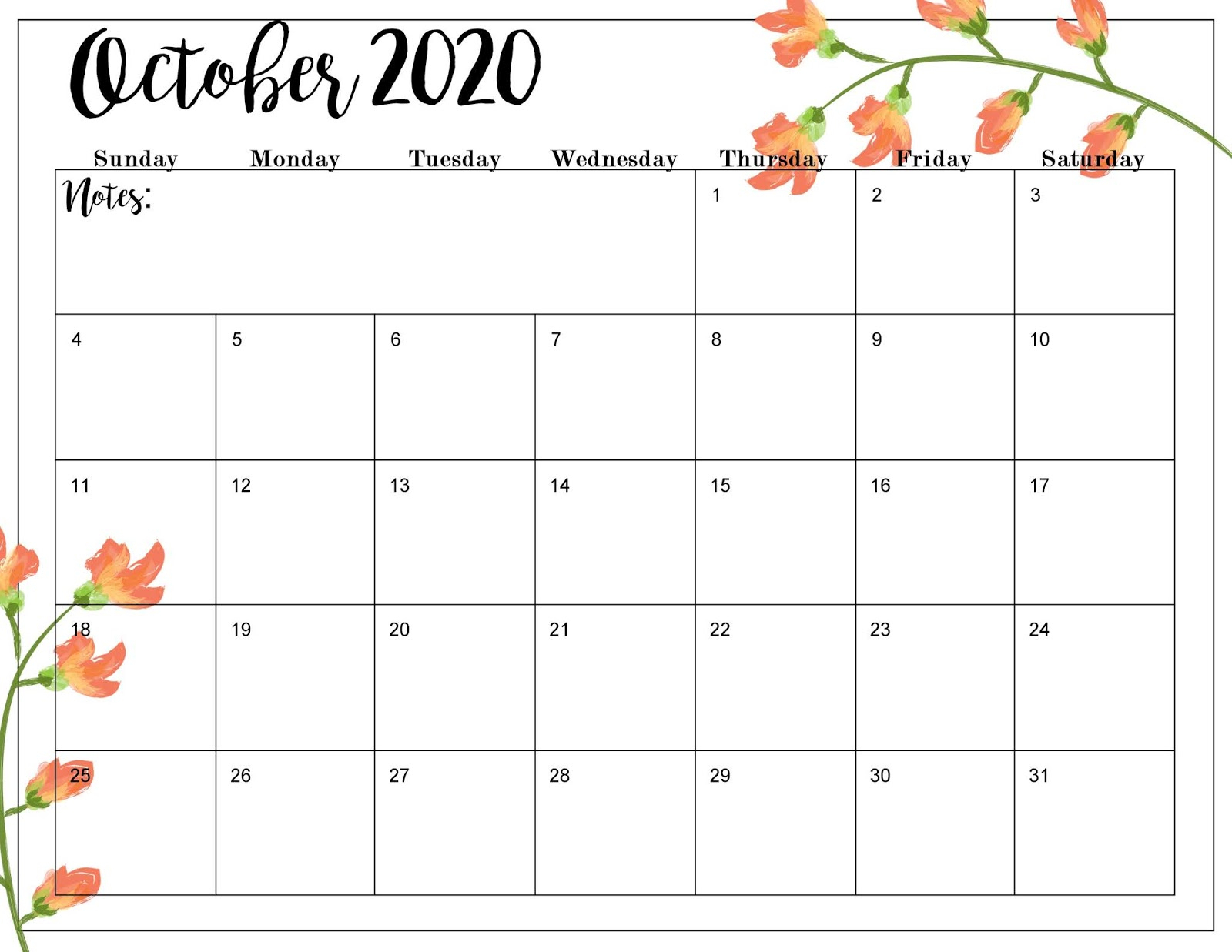 The Cozy Red Cottage: 2020 Calendar (Free Printables) inside Free Fill In Calendars 2020
