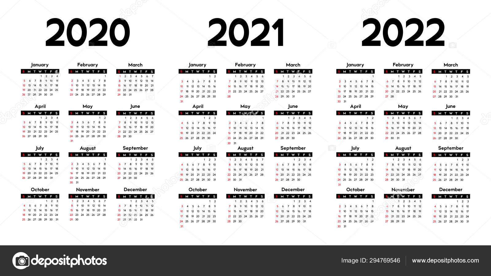 Three Year Printable Calendar 2020 To 2023 | Calendar ...