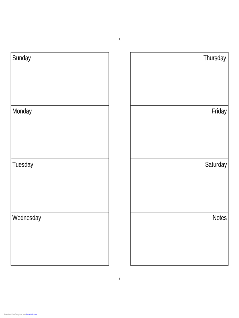 Weekly Calendar (Sunday-Saturday) - Edit, Fill, Sign Online with regard to Sunday To Saturday Calendar