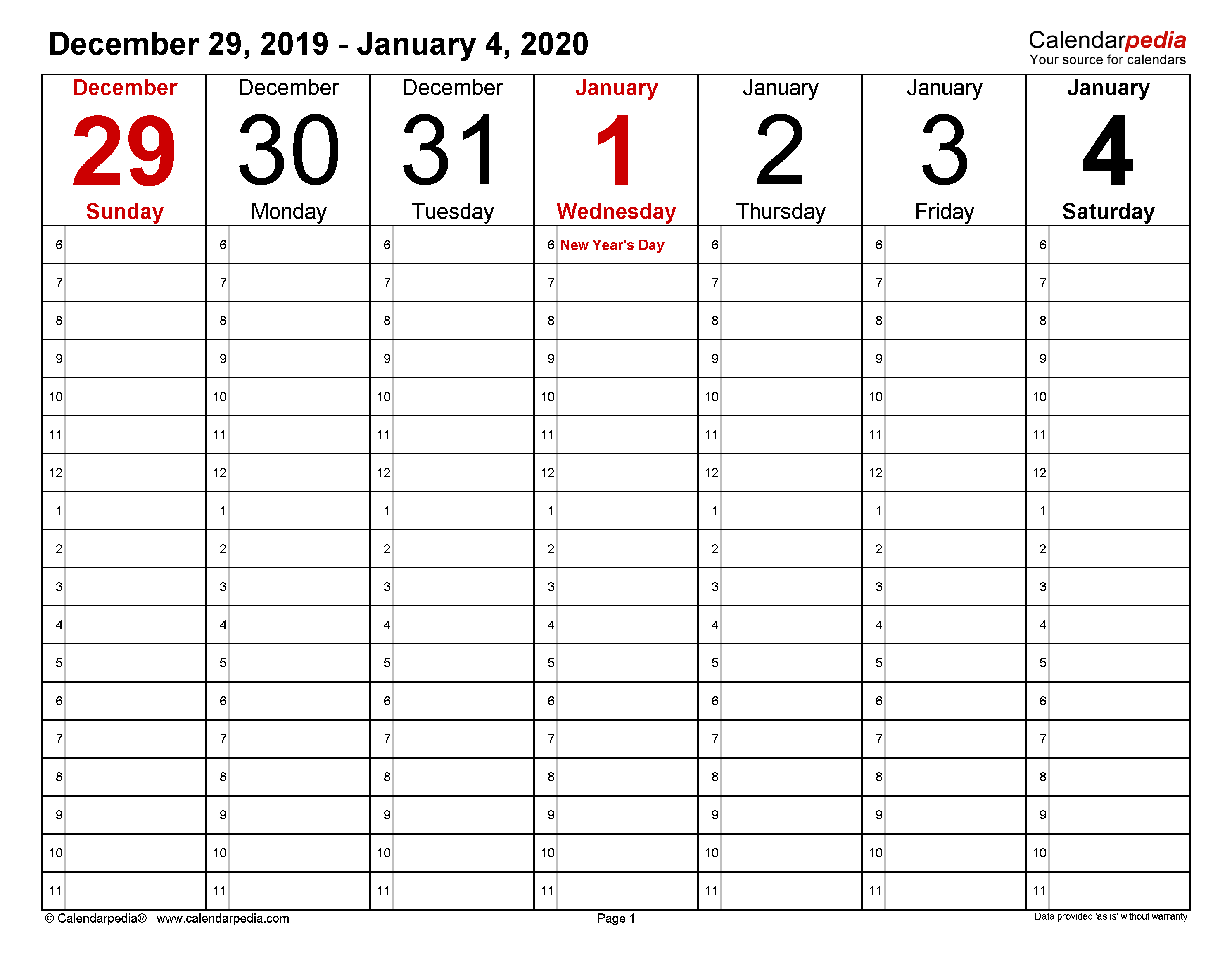 Weekly Calendars 2020 For Word - 12 Free Printable Templates in Print Free 2020 Calendar Without Downloading Weekly Writing