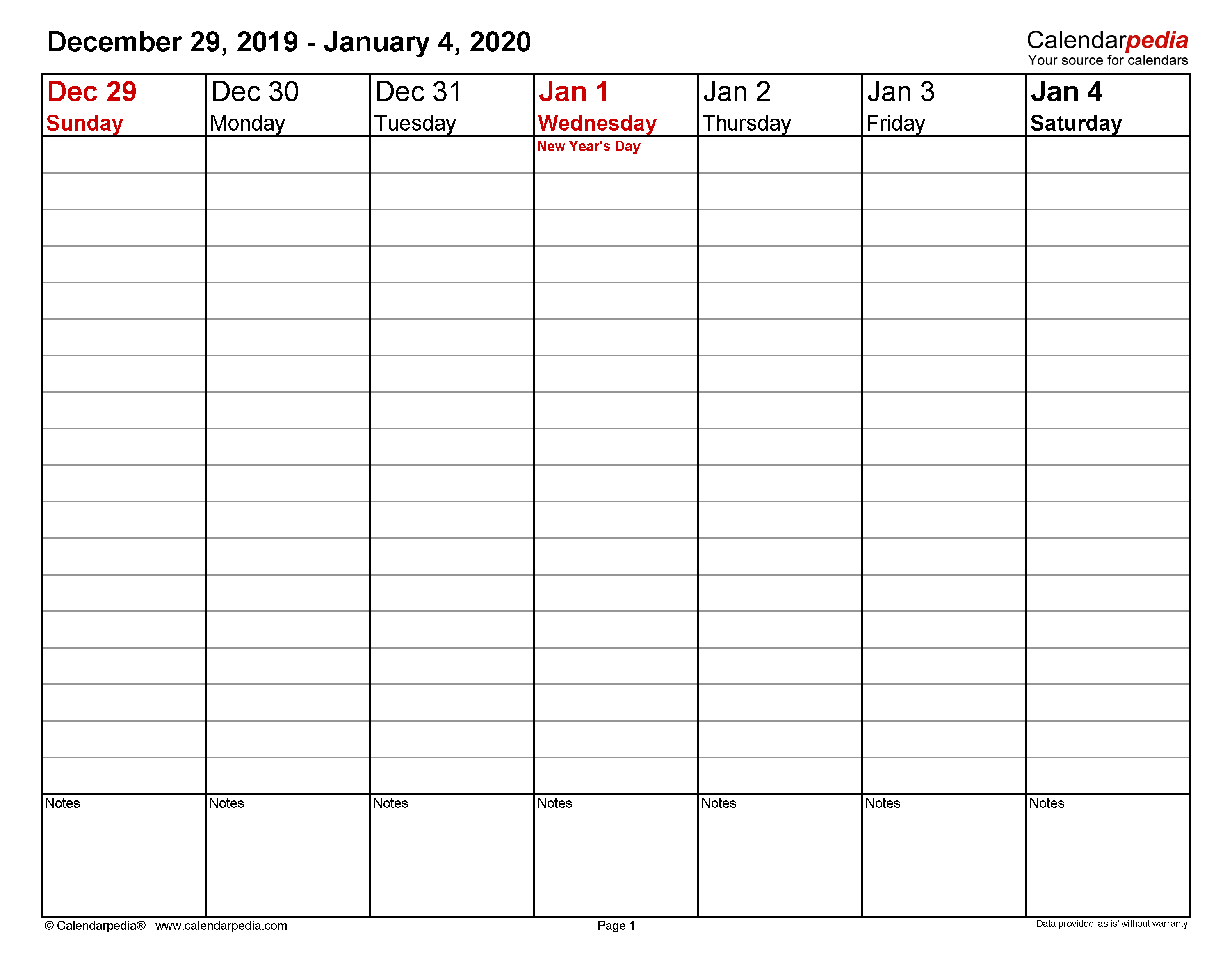 Weekly Calendars 2020 For Word - 12 Free Printable Templates within Print Free 2020 Calendar Without Downloading Weekly Writing
