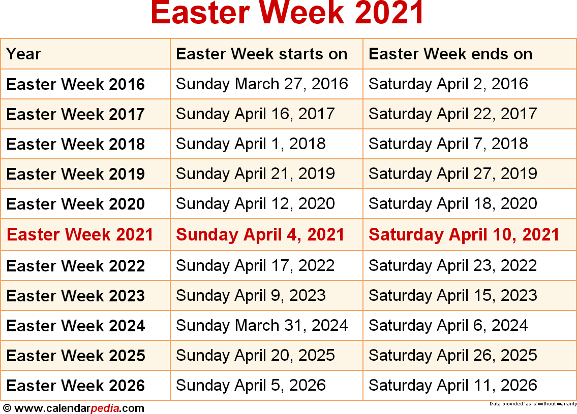 When Is Easter Week 2021? within Printable Monthly Liiturgical Calendar 2020