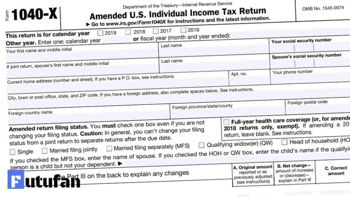 1040X Form 2021 - 1040 Forms inside Irs Forms 2021 Printable