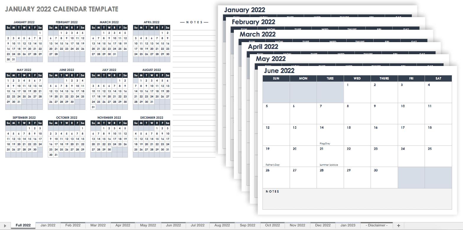 15 Free Monthly Calendar Templates | Smartsheet regarding 2021 2021 2 Year Monthly Planner Live