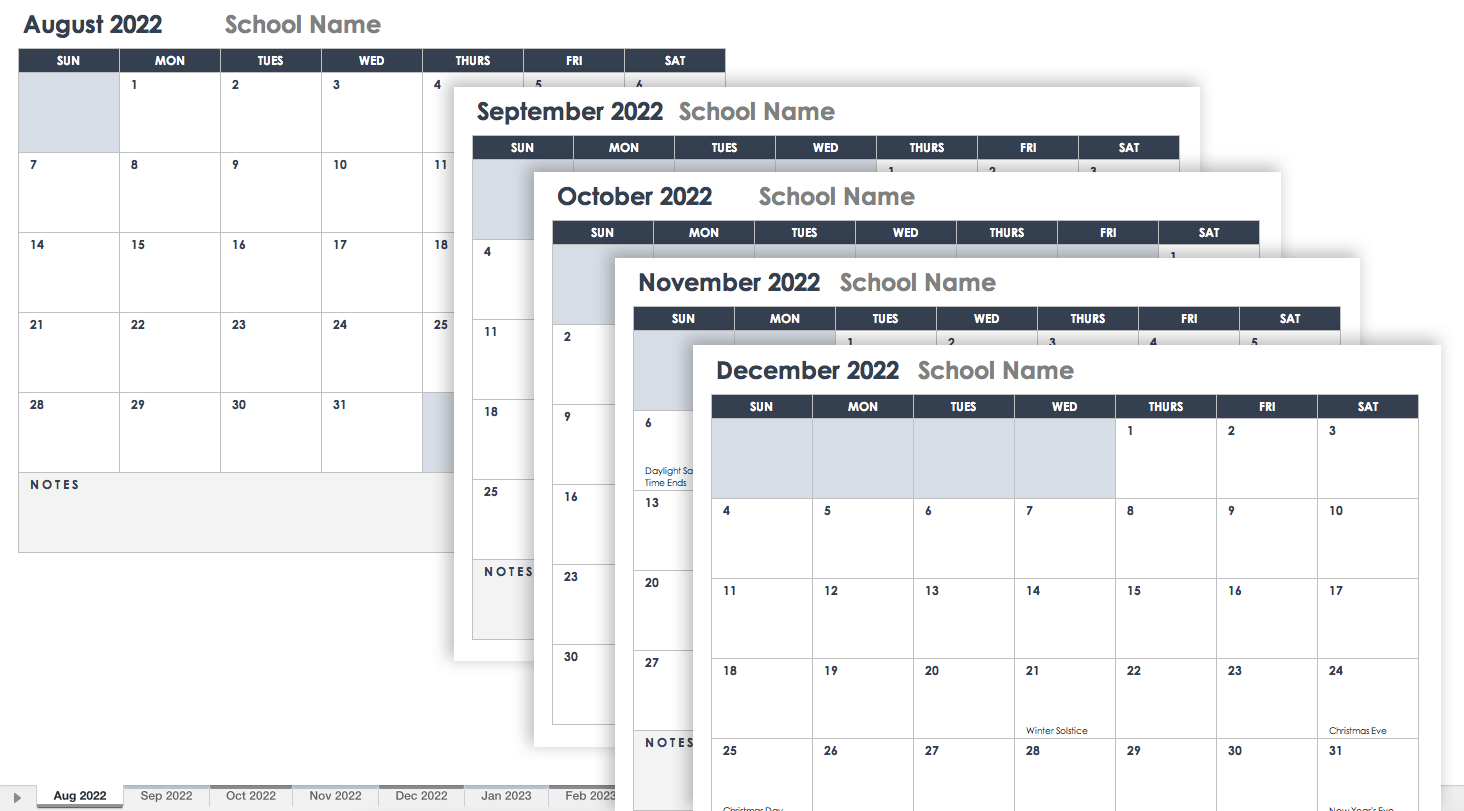15 Free Monthly Calendar Templates | Smartsheet with regard to 2021-2021 Two Year Monthly Planner:
