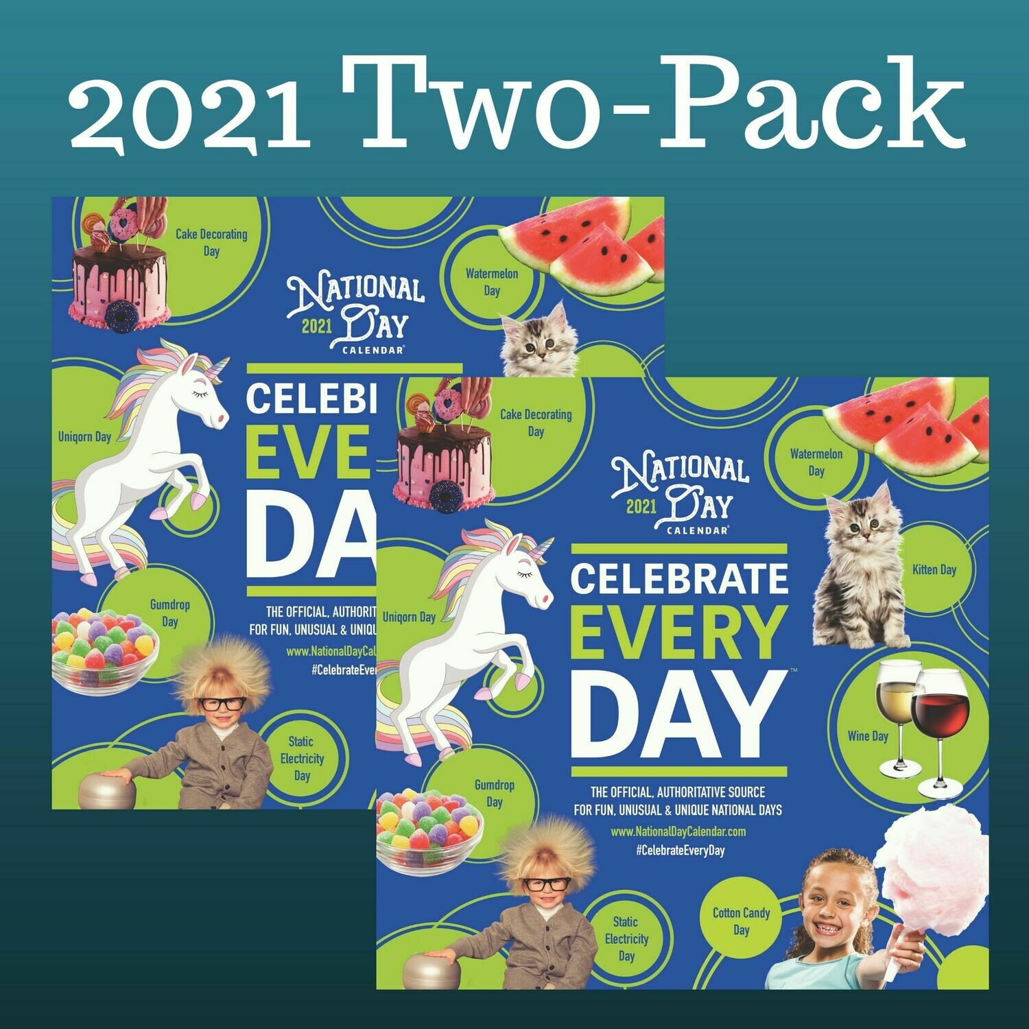 2 Pack | 2021 Official Celebrate Every Day® National Day Wall Calendar regarding Printable National Day Calendar 2021