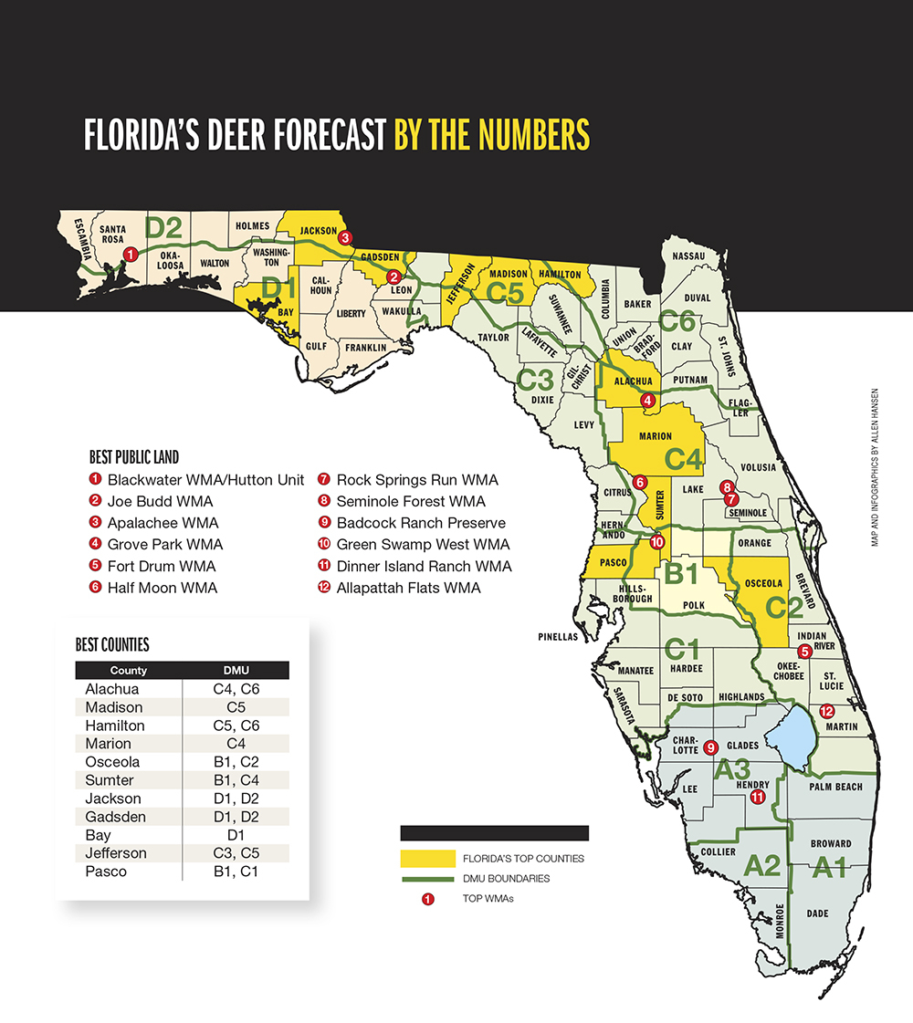 2015 Trophy Deer Forecast: Florida with 2021 Whitetail Rut Prediction
