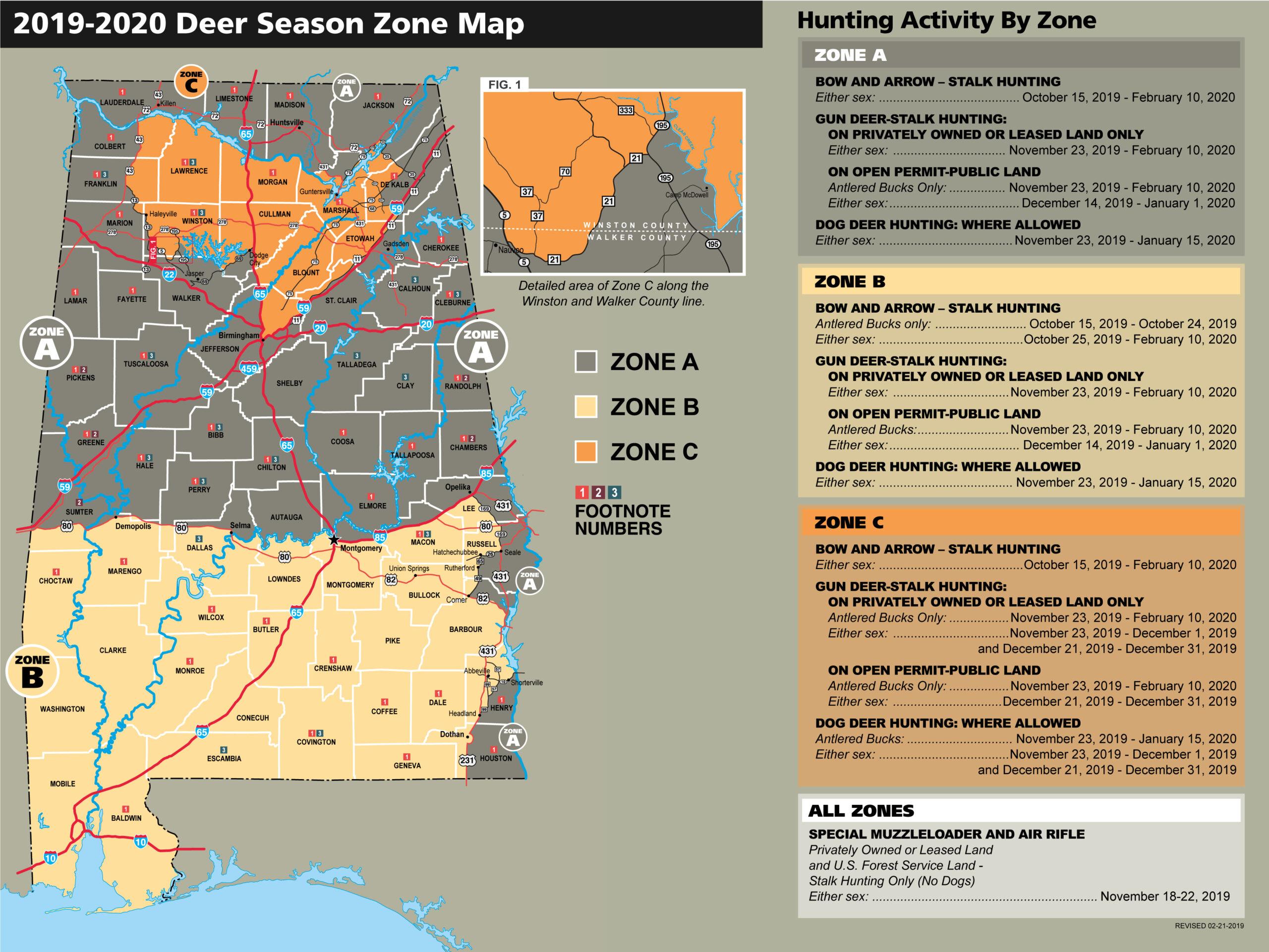 2019-20 Alabama Hunt Dates regarding 2021 Whitetail Rut Calendar
