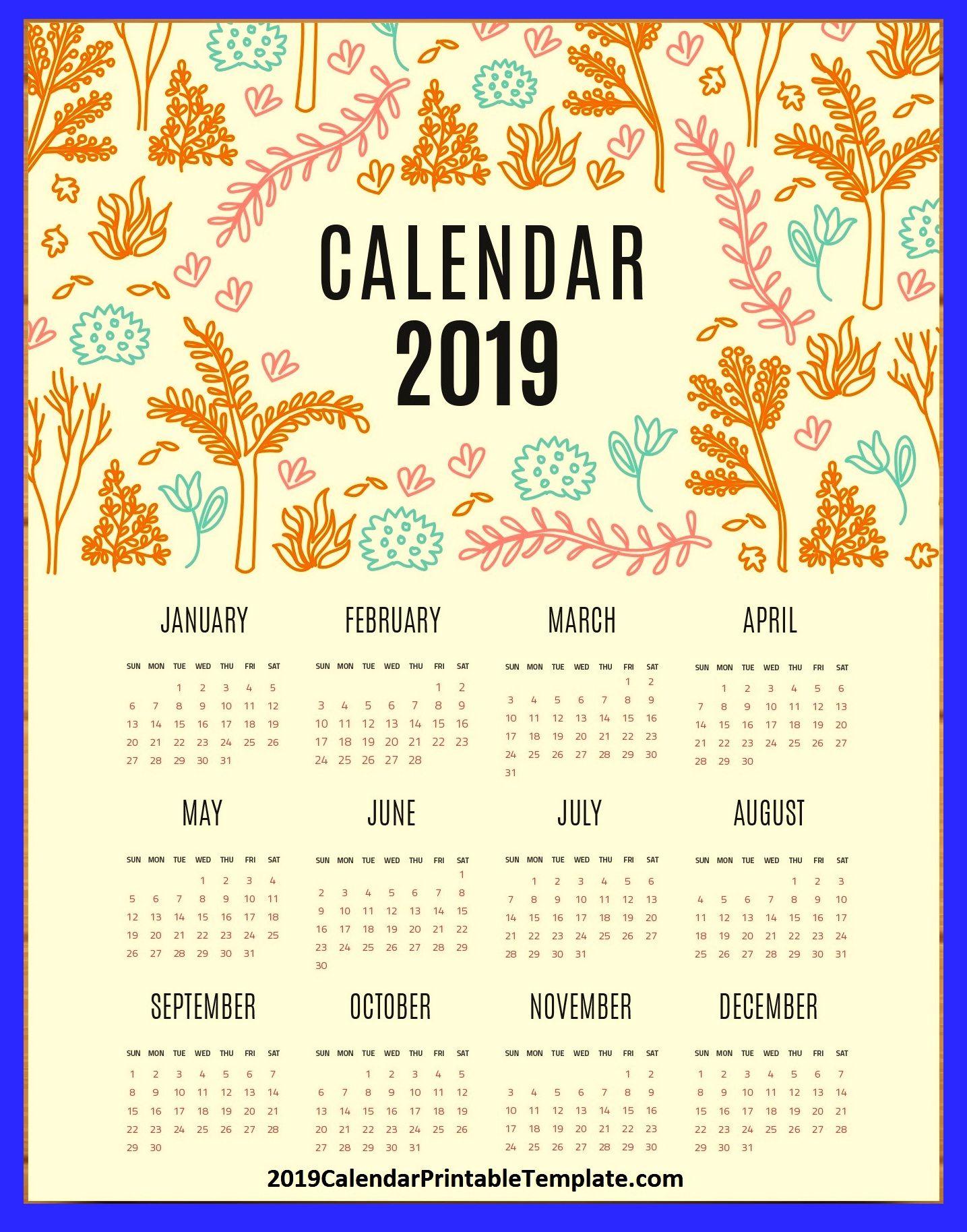 2019 Calendar Usa Printable Template Holidays Https://Www regarding Federal Government Calendar Printable