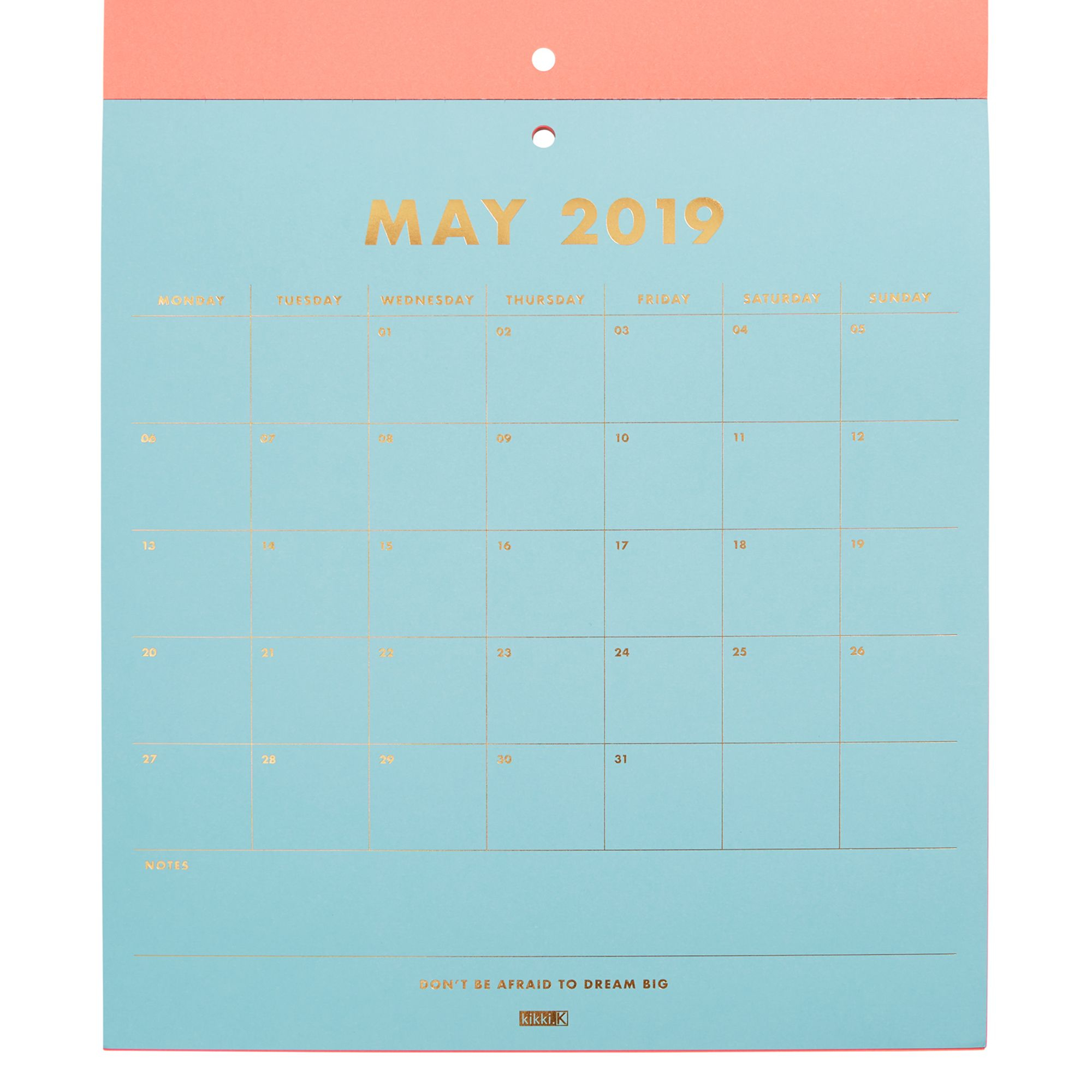 2019 Pad Calendar Neon | Calendars | Kikki.k In 2020 within Wall Calendar Kikki K