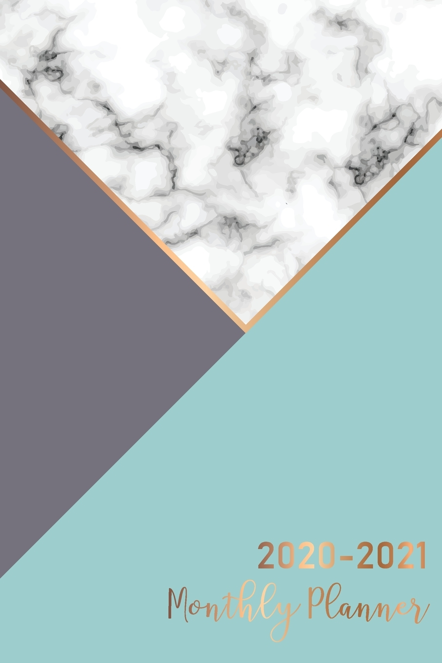 2020-2021 Daily Monthly Calendar Pocket Planner, 24 Months Jan 2020 To Dec  2021: 2020-2021 Monthly Planner: Marble Cover - 2 Year Calendar 2020-2021 inside 2021-2021: 2-Year Planner 24-Monthly