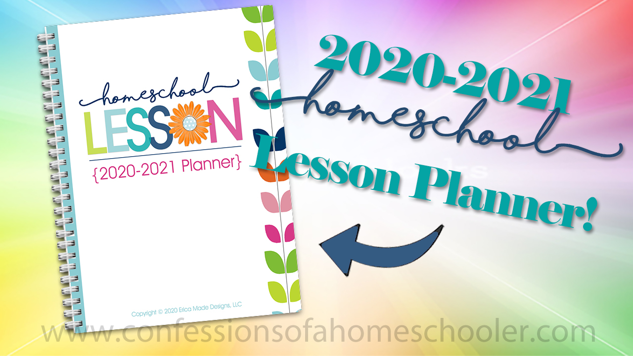 2020-2021 Homeschool Lesson Planner Pdf - Confessions Of A intended for Lesson Plan Calendar Template 2021