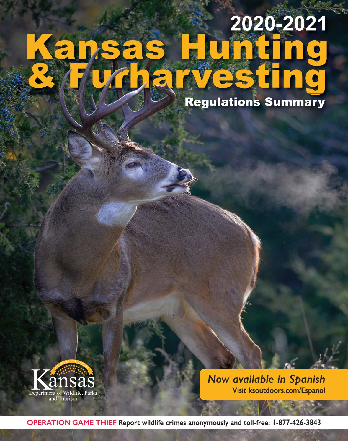 2020-2021 Kansas Hunting & Furharvesting Regulations Summary with 2021 Whitetail Rut Calendar For Virginia