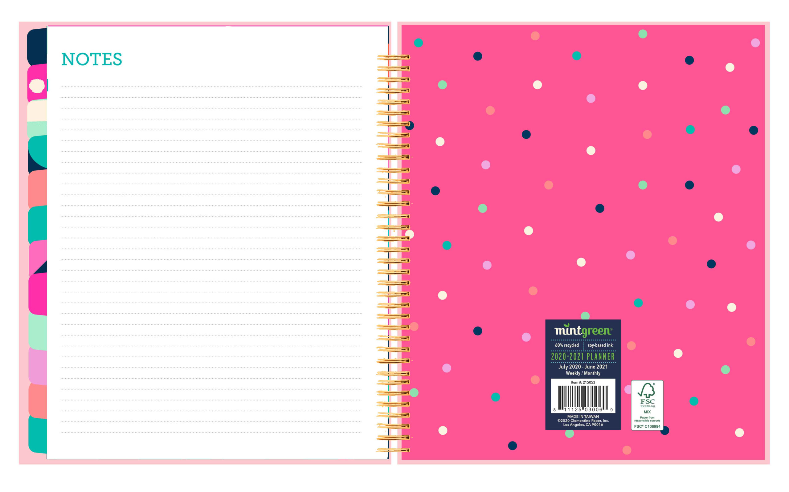 2020-2021 Mintgreen Medium Inspirational Spiral Weekly Monthly Planner intended for Hunting Planner 2021 Monthly