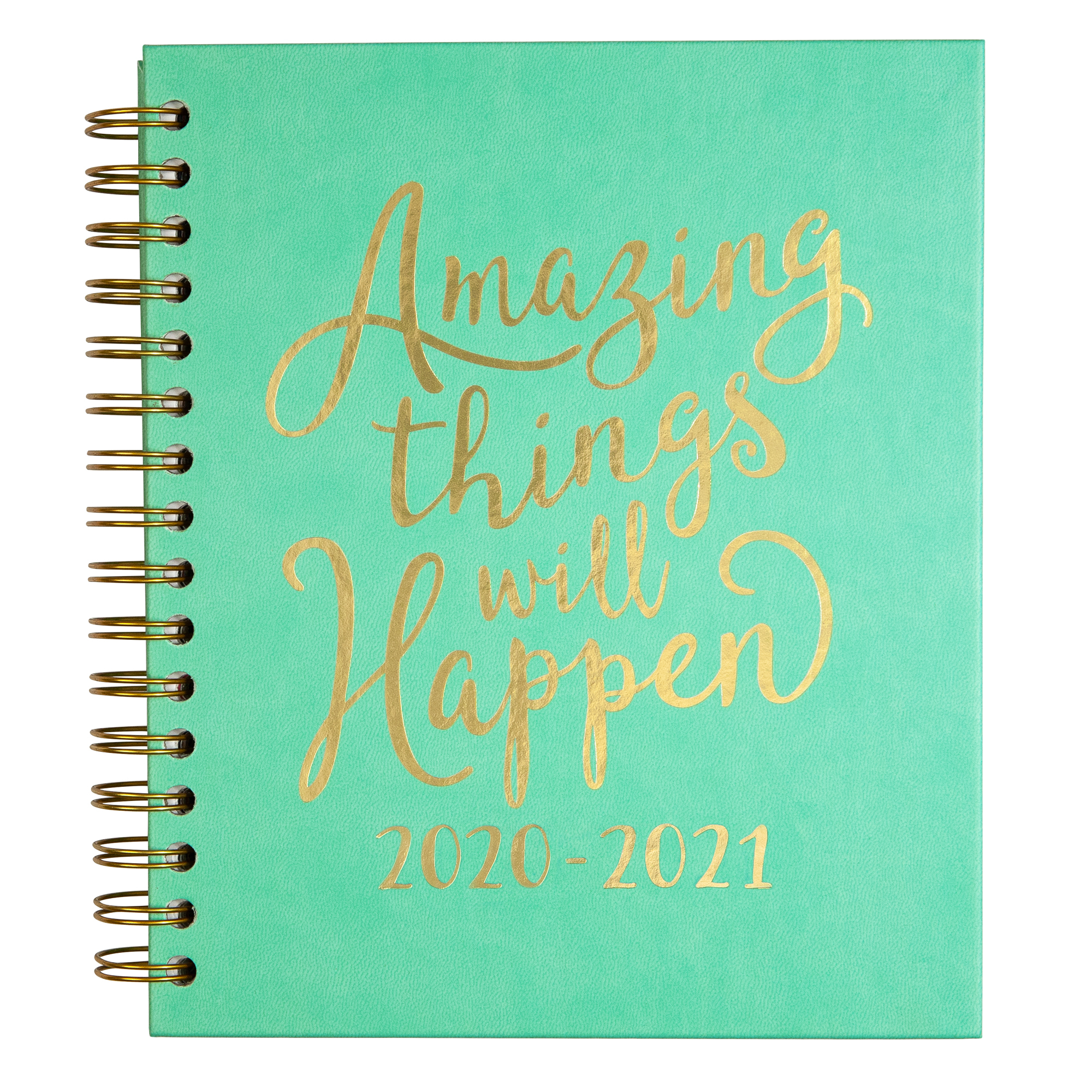 2020-2021 Mintgreen Medium Inspirational Spiral Weekly Monthly Planner -  Walmart pertaining to Hunting Planner 2021 Monthly