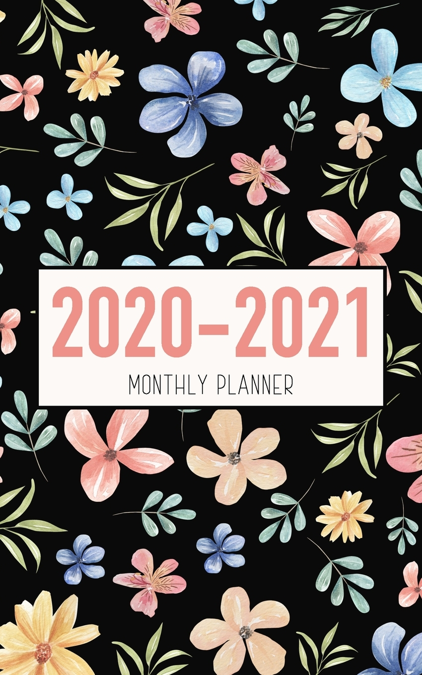 2020-2021 Monthly Planner: Floral Design - Two Year Calendar 5X8 - 2 Year  Pocket Planner 5X8 Inches Jan 2020 To Dec 2021 With Phone Book - Personal in 2021-2021 2 Year Planner Llama Monthly
