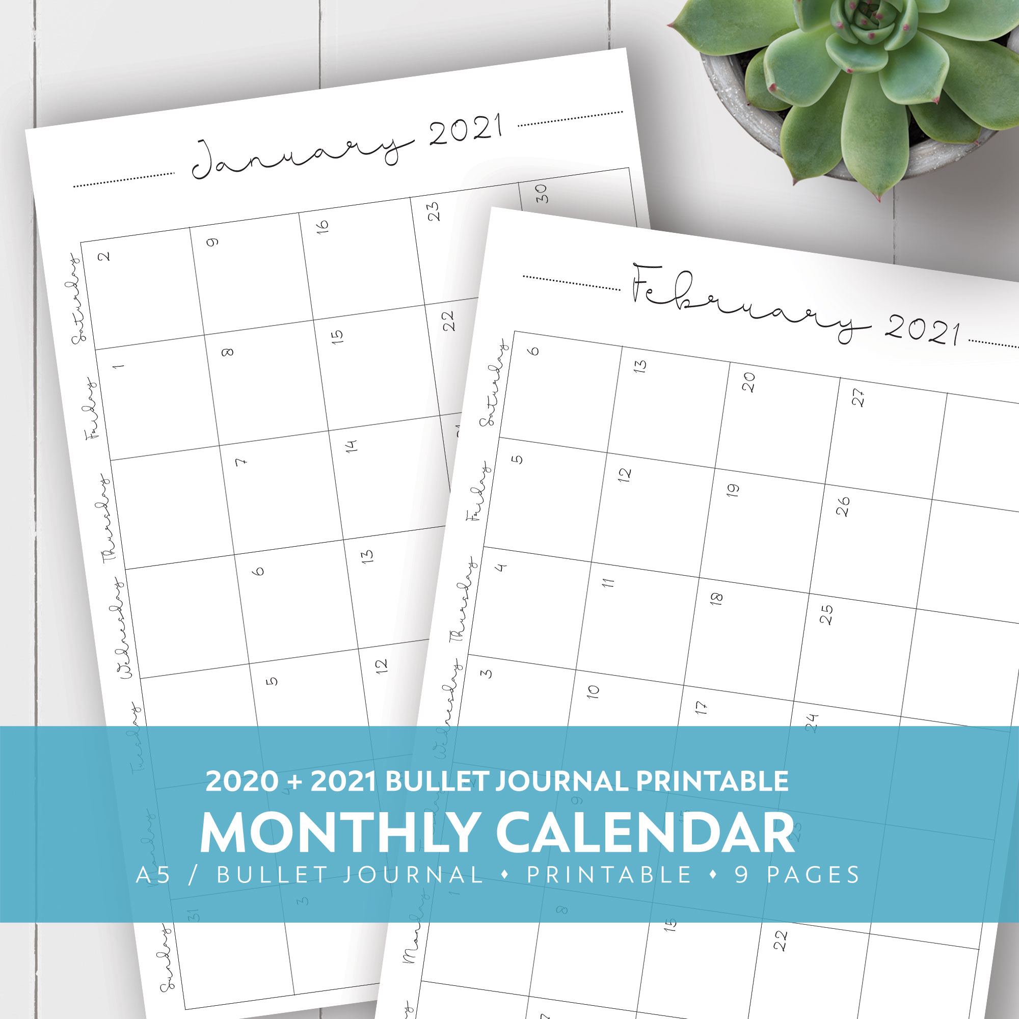 2020 + 2021 Monthly Printable Calendar within Hunting Season: Calendar 2021 Monthly