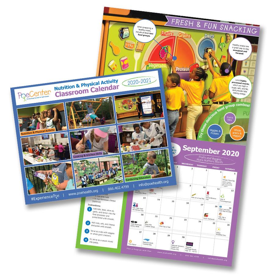 2020-2021 Nutrition & Physical Activity Classroom Calendar throughout Hunting Season: Calendar 2021 Monthly