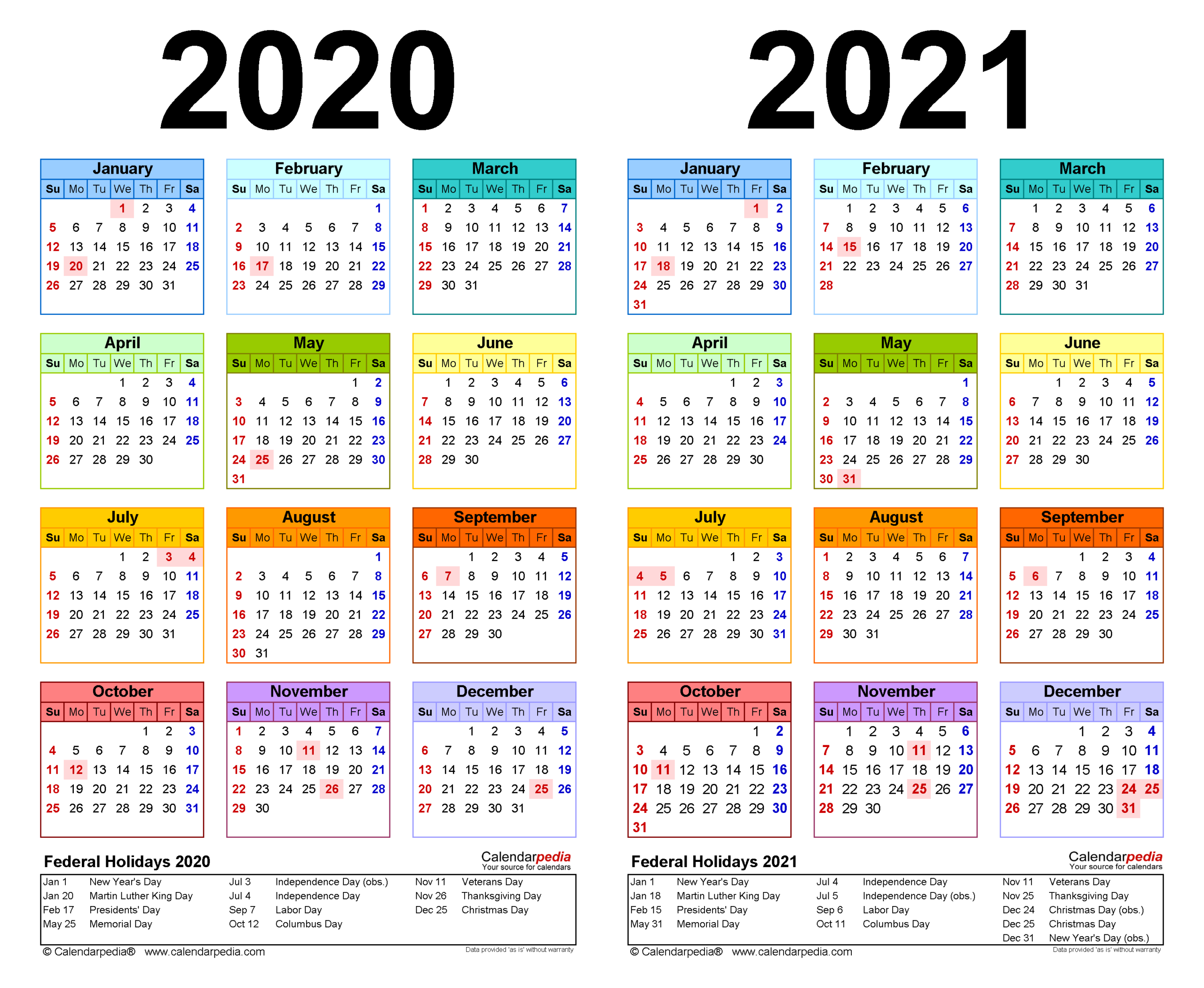 2020-2021 Two Year Calendar - Free Printable Excel Templates with regard to Sunday To Saturday Year Calendar 2021/21