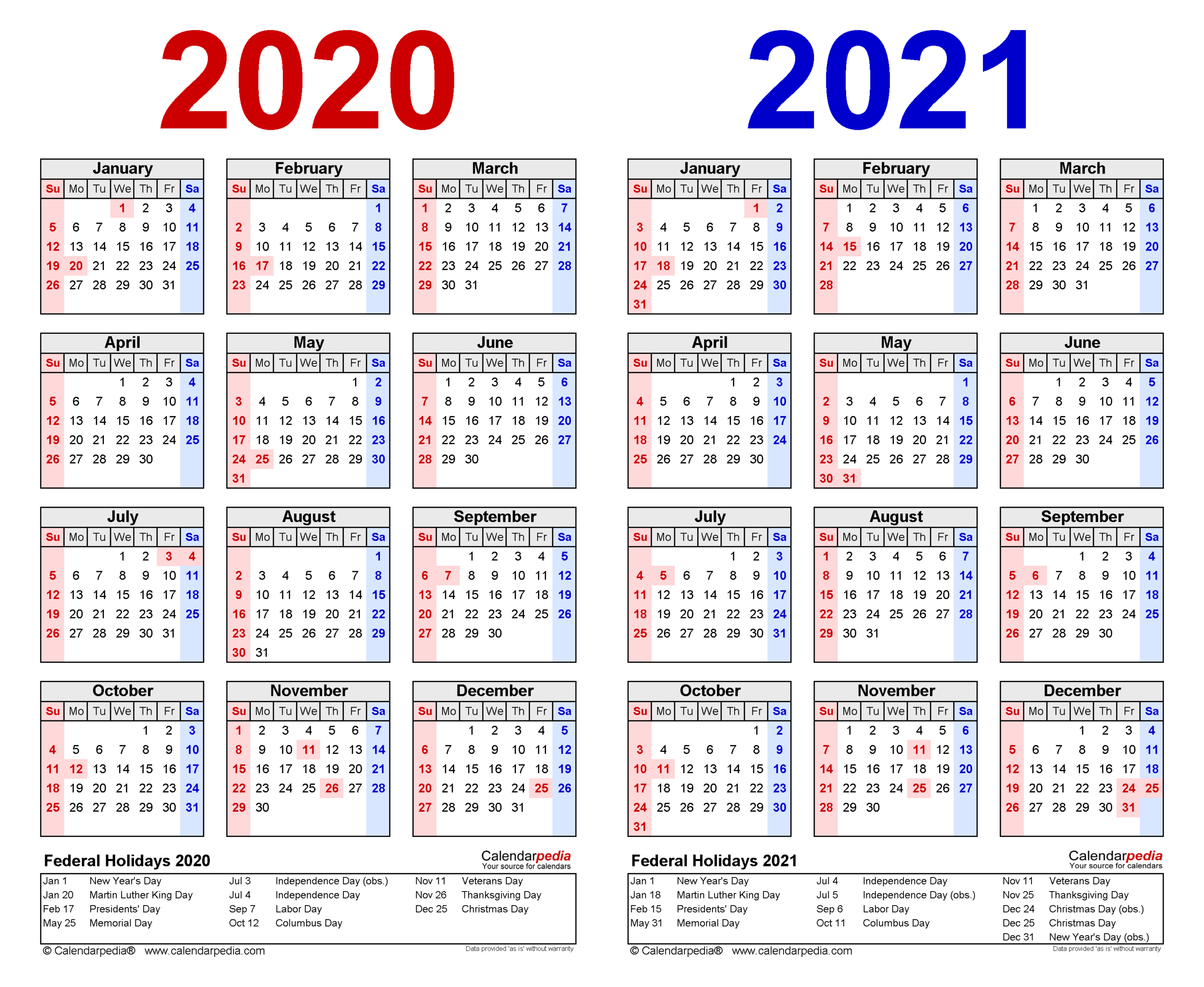 2020-2021 Two Year Calendar - Free Printable Excel Templates with Sunday To Saturday Year Calendar 2021/21