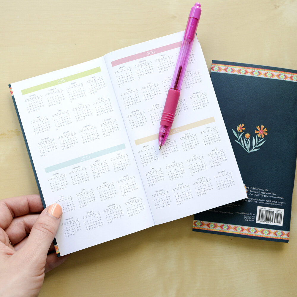 2020 Two Year Pocket Calendar — Becca Cahan for Planner 2021: Year Monthly Pocket