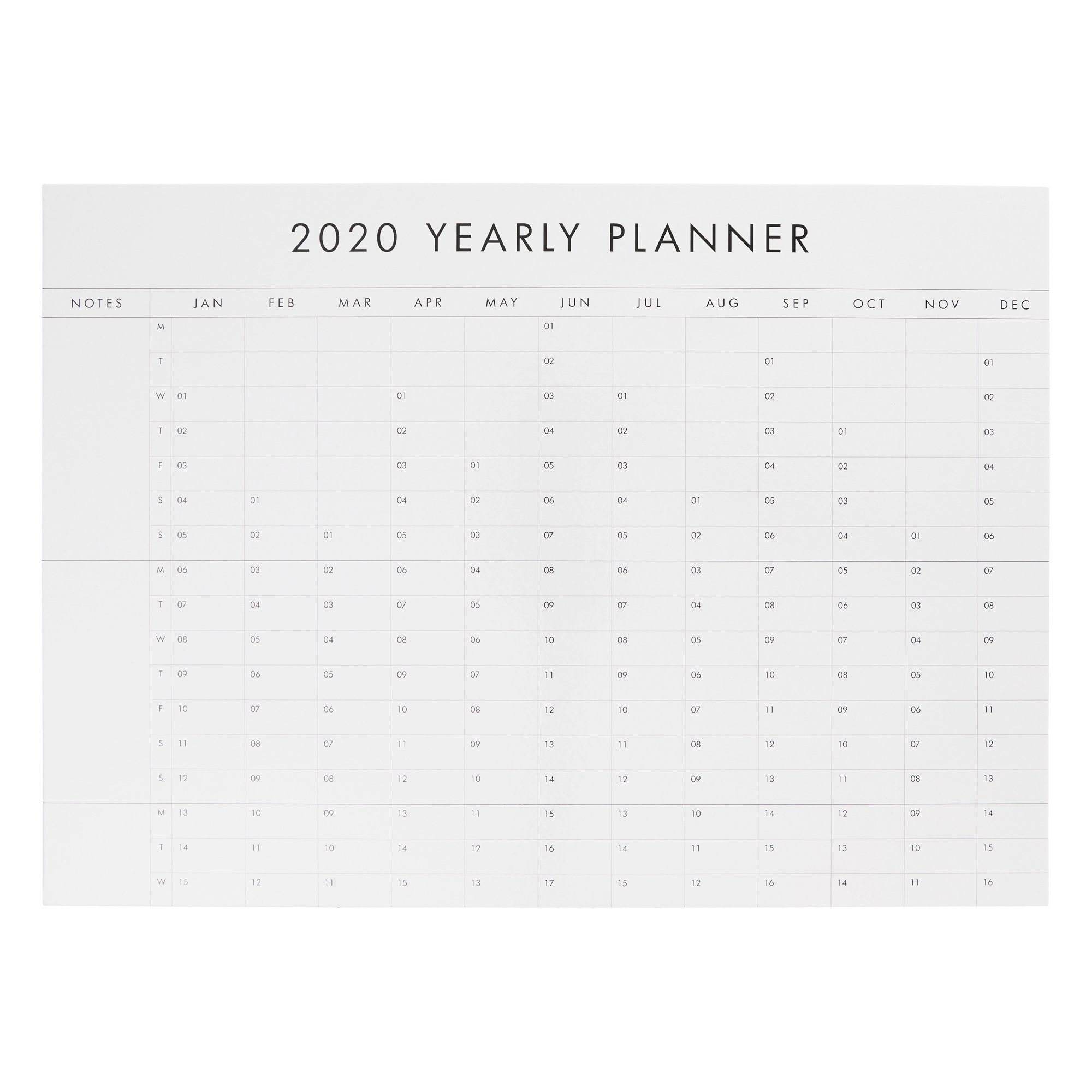 2020 Whiteboard: Wall Planner throughout Wall Calendar Kikki K