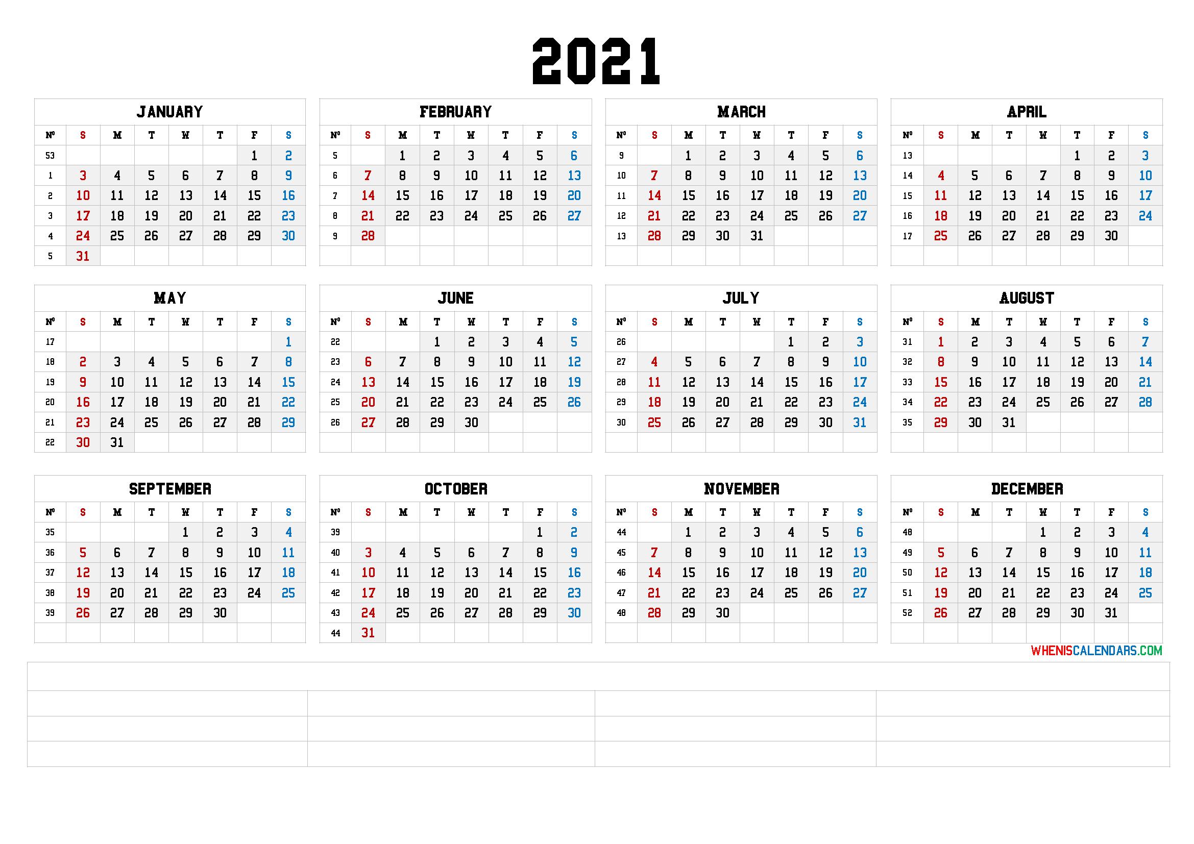 2021 12 Month Calendar Printable [Premium Templates] – Free regarding 2021 Monthly Planner 12 Month