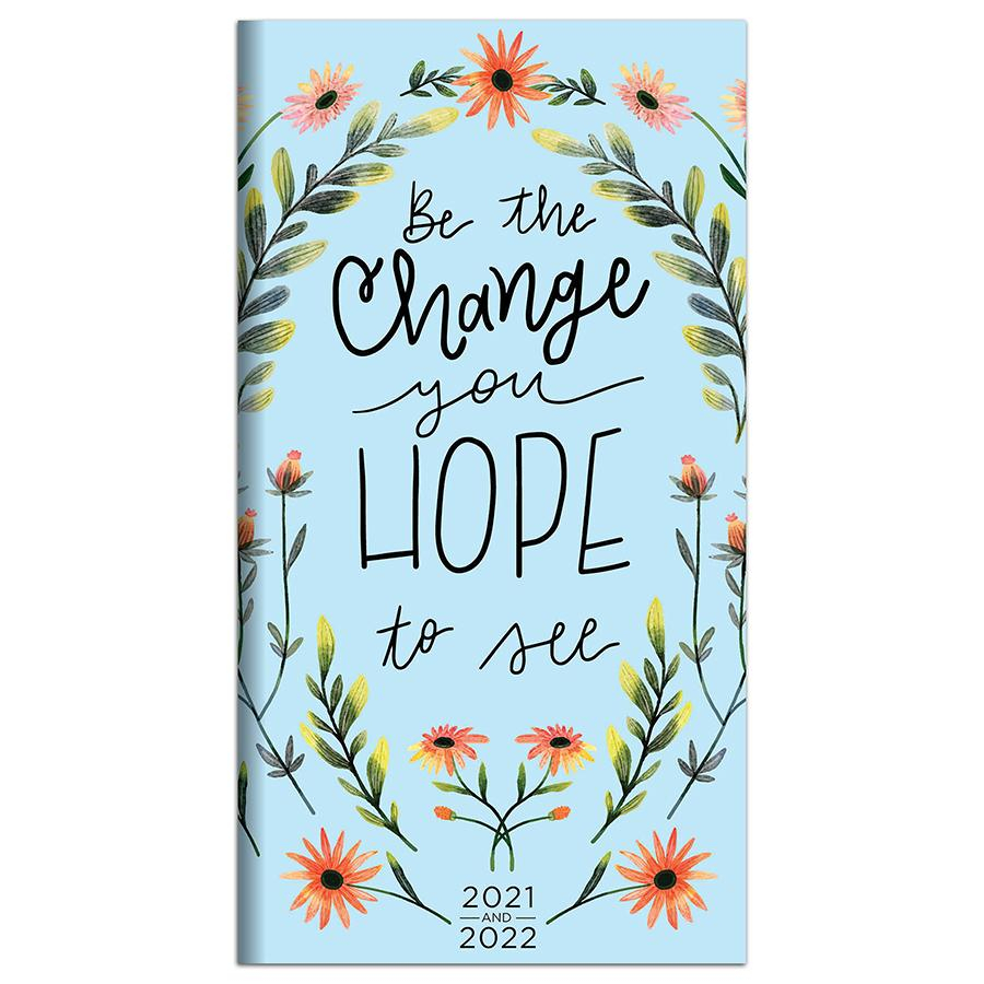 2021-2022 Be The Change 2-Year Small Monthly Planner within 2021 2021 2 Year Monthly Planner Live