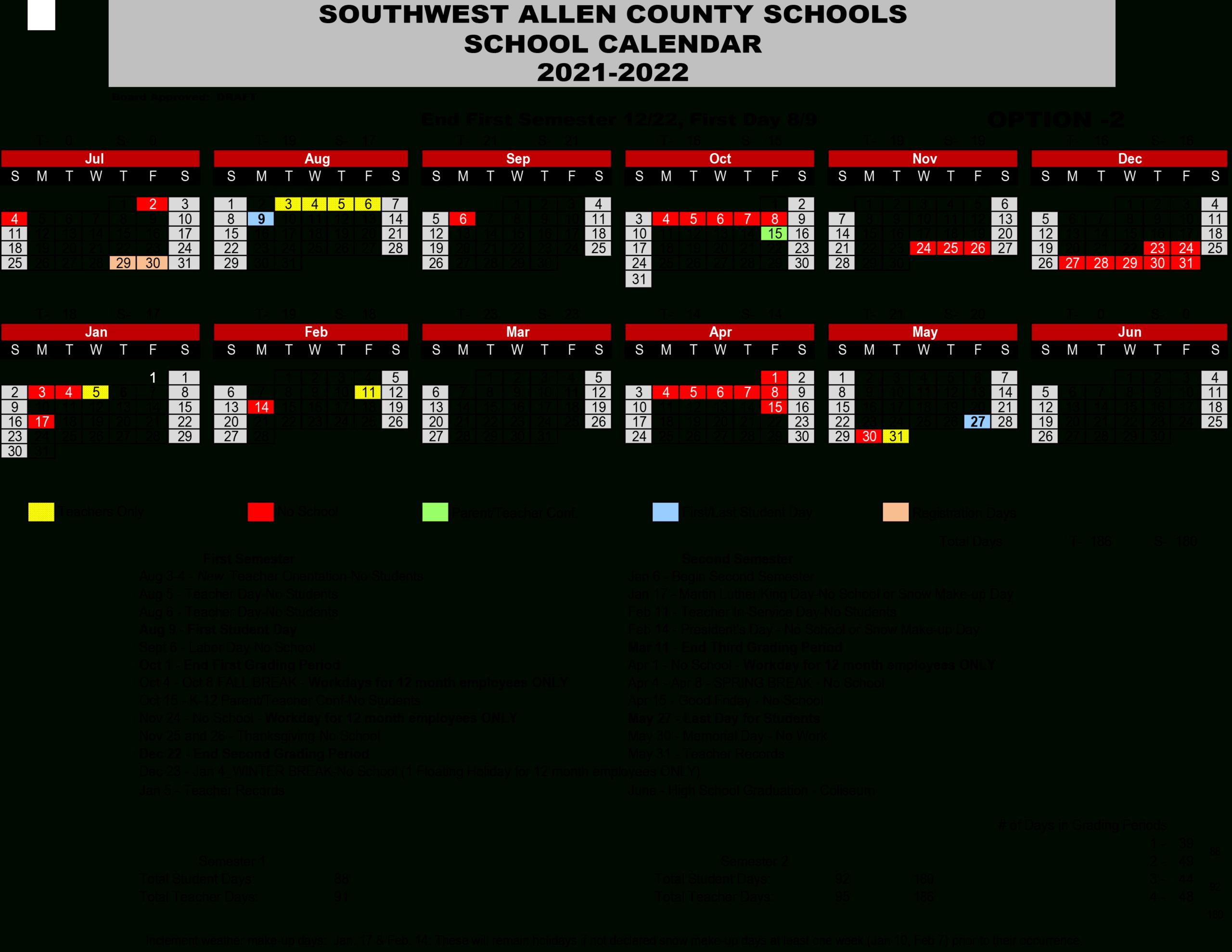 2021-2022 School Calendar - Deer Ridge Elementary School inside Deer Activity Calendar 2021