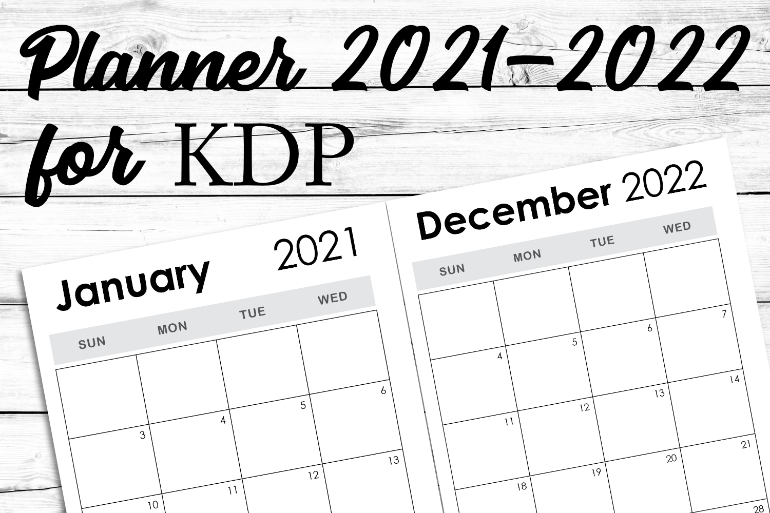2021-2022 Weekly Monthly Kdp Template throughout 2021-2022 Monthly Planner: Sunflowers