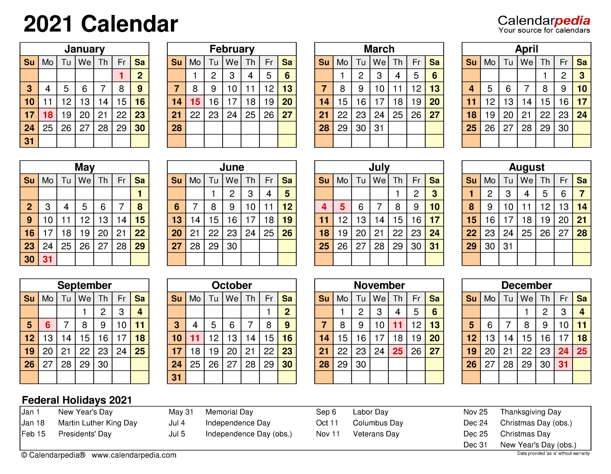 2021 Calendar - Free Printable Excel Templates - Calendarpedia in Shift Calendar 2021