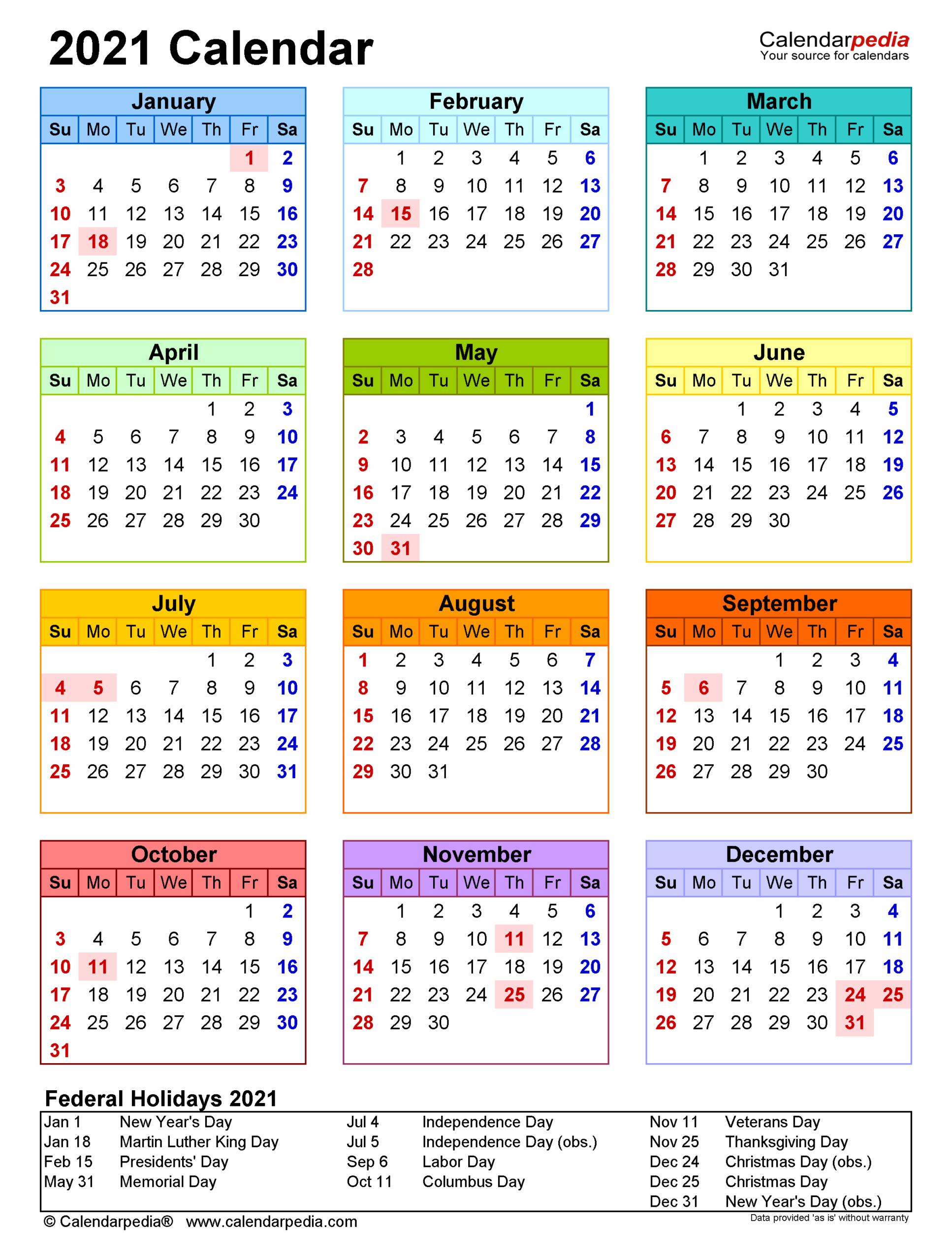 2021 Calendar - Free Printable Excel Templates - Calendarpedia regarding Calendar 2021 Aramco