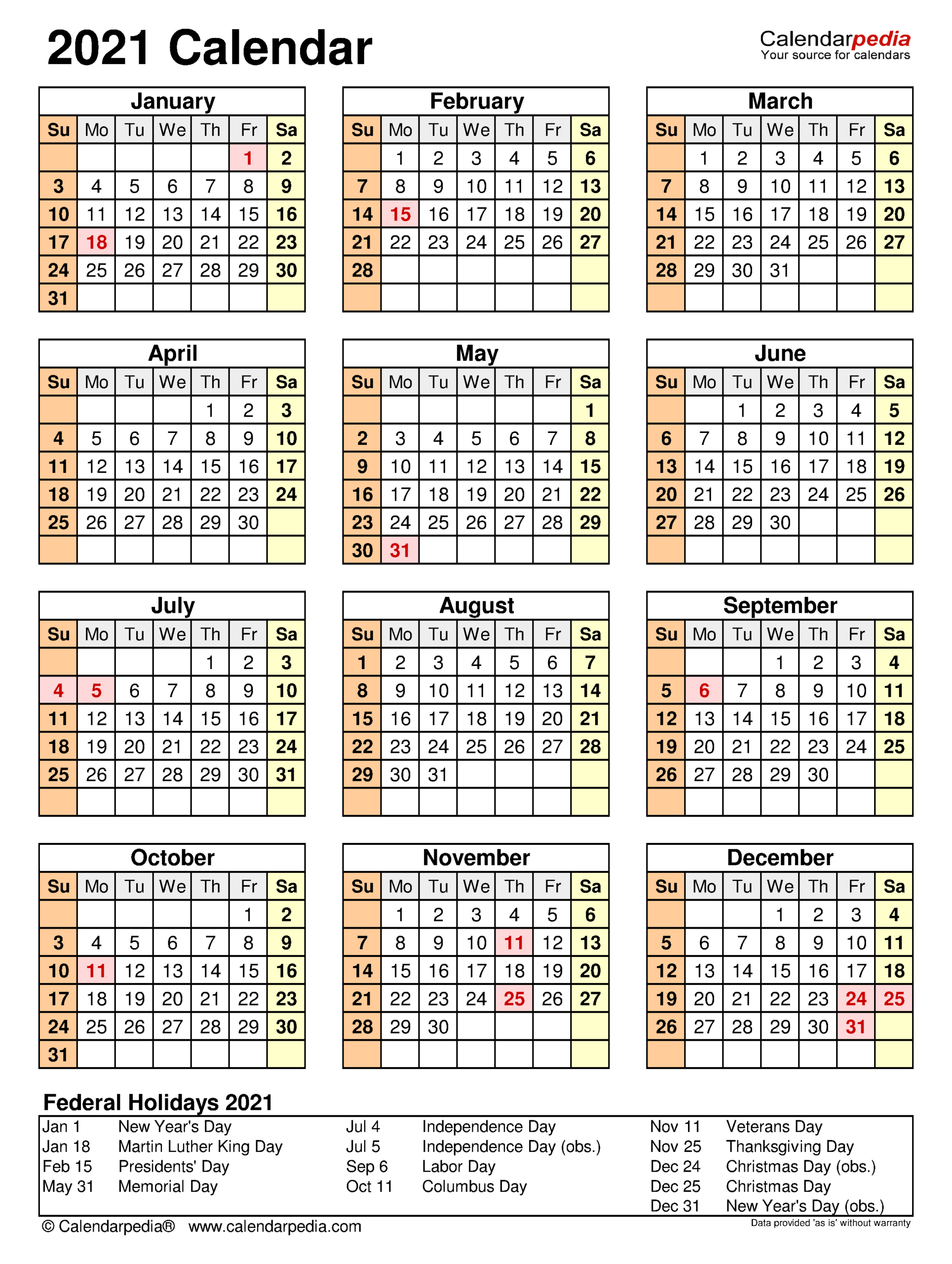 2021 Calendar - Free Printable Excel Templates - Calendarpedia with regard to Calendar 2021 Aramco