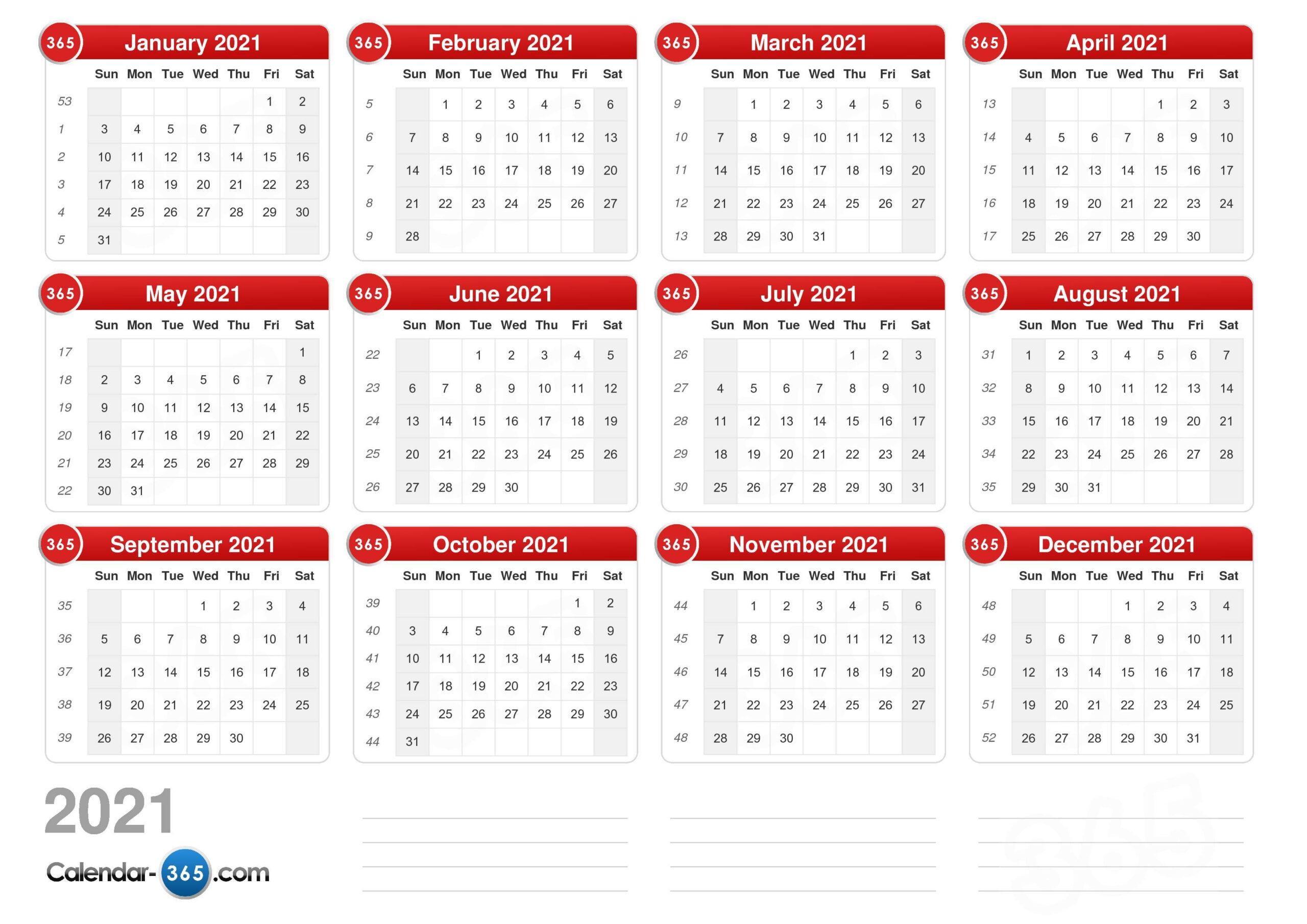2021 Calendar in Saturday Calendar 2021