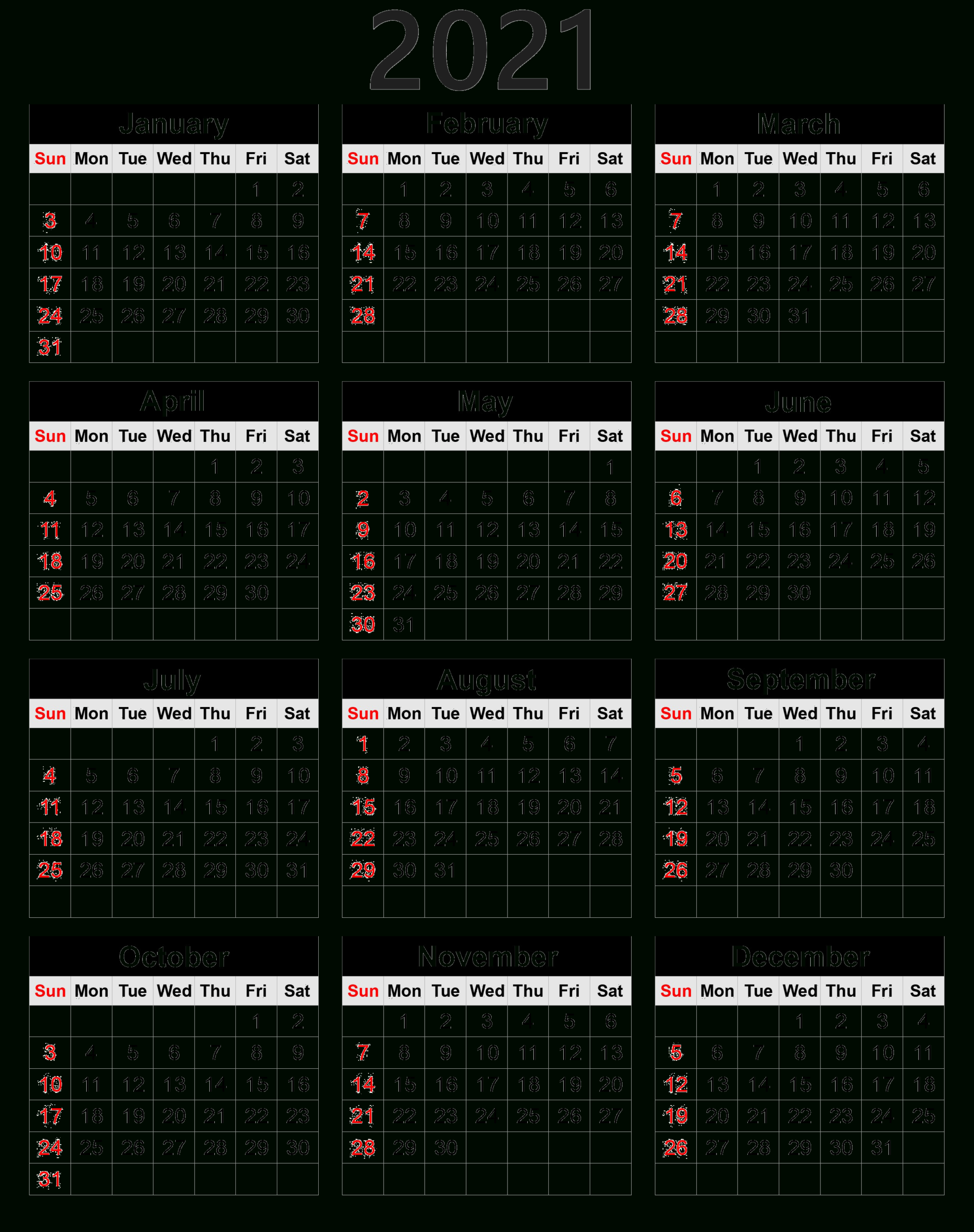 2021 Calendar Png Transparent Images | Png All intended for Pocket Calendar 2021-2021: Two Year