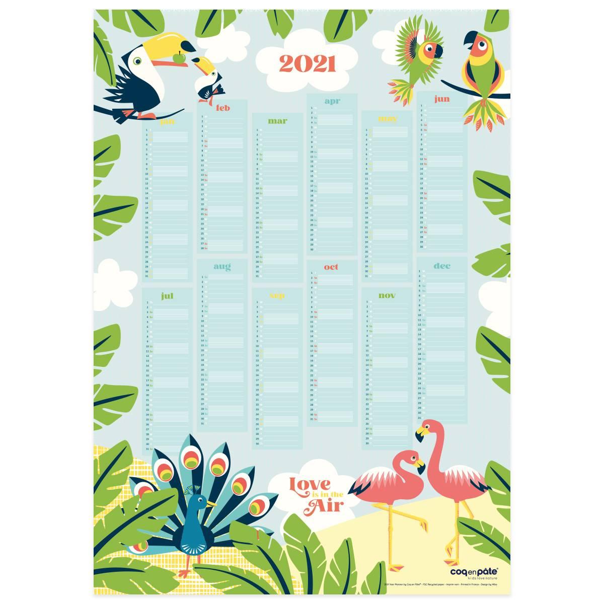 2021 Calendar Poster for Deer Activity Calendar 2021