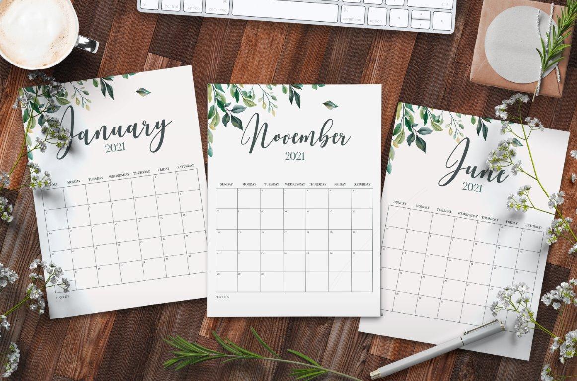 2021 Calendar Printables For Free - World Of Printables within 2021 Large Bold Printable Calendar