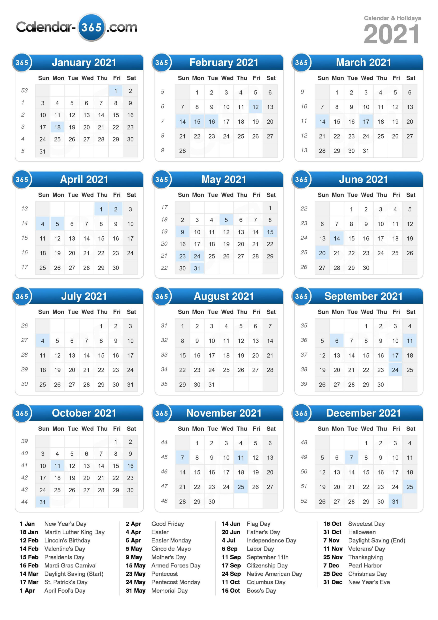 2021 Calendar throughout Printable Yearly Full Moon Calendar For 2021
