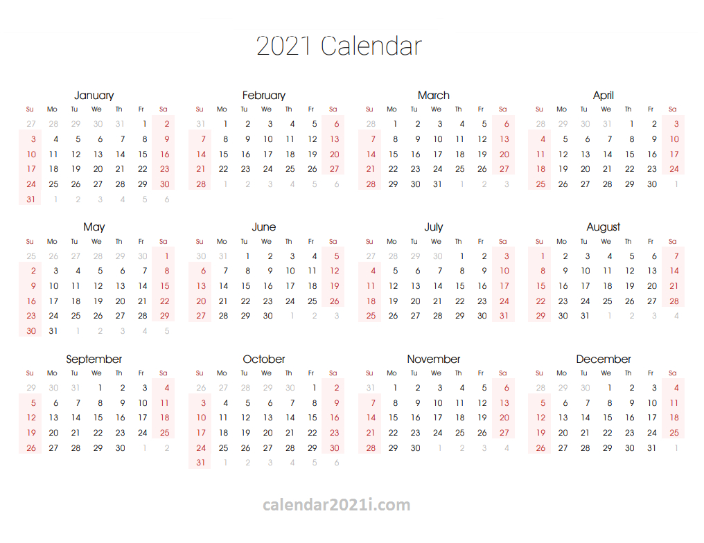 2021 Editable Yearly Calendar Templates In Ms Word, Excel with regard to Fillable Calendar Templates 2021