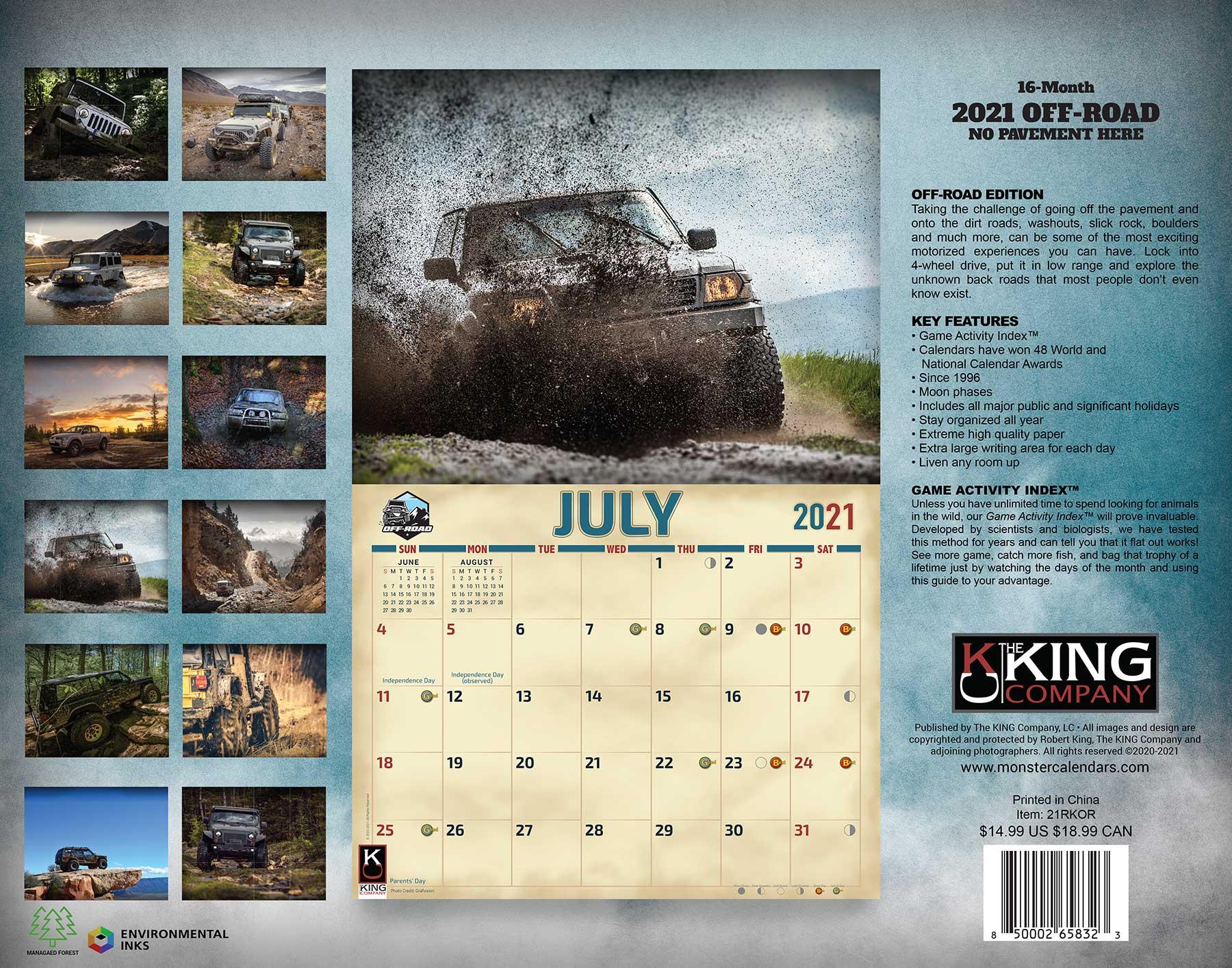 2021 Off-Road Calendar regarding Rut Calendar 2021